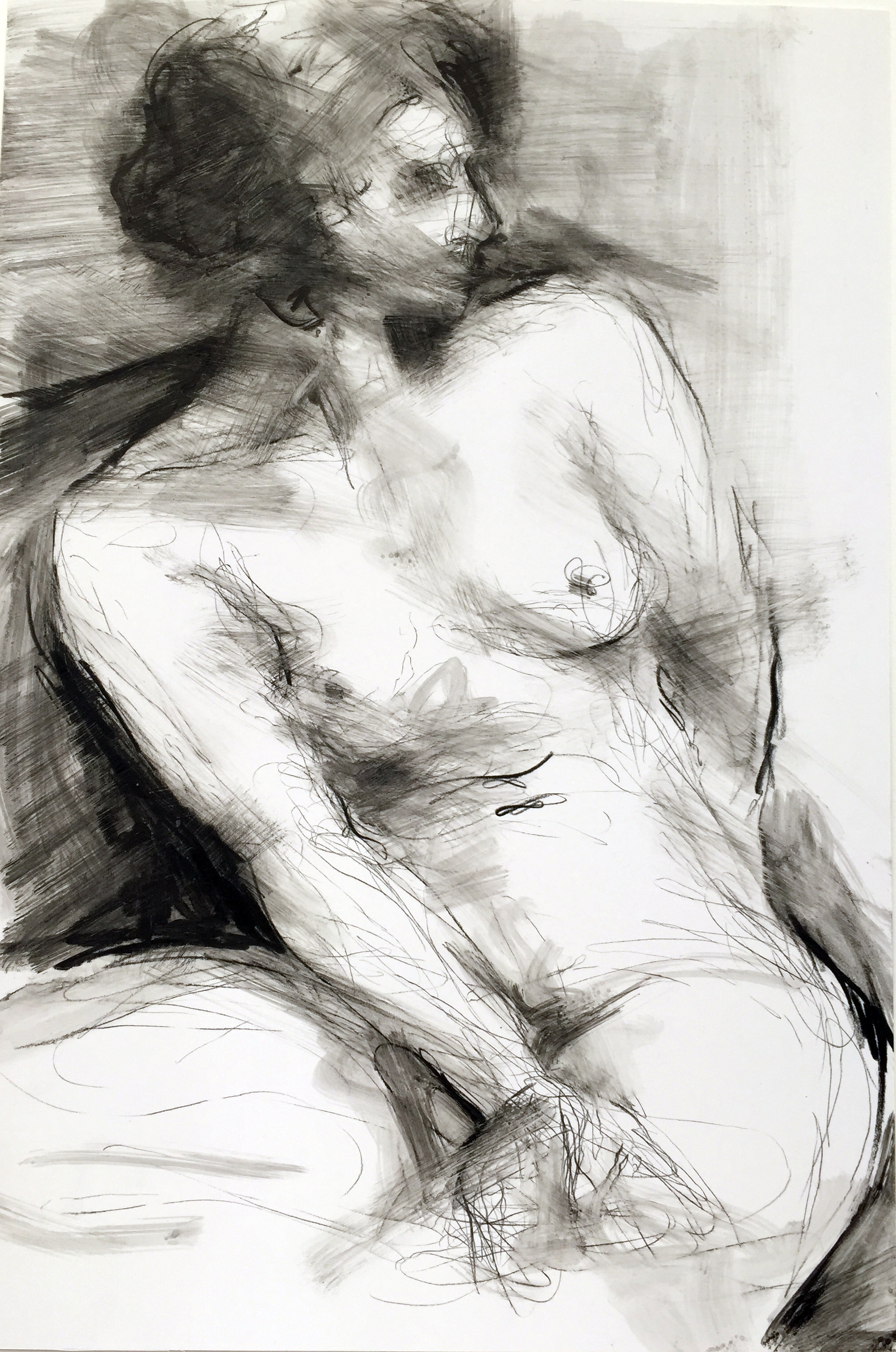"""Nude 26  2016 Watercrayon on paper 18"""" x 12"""""""