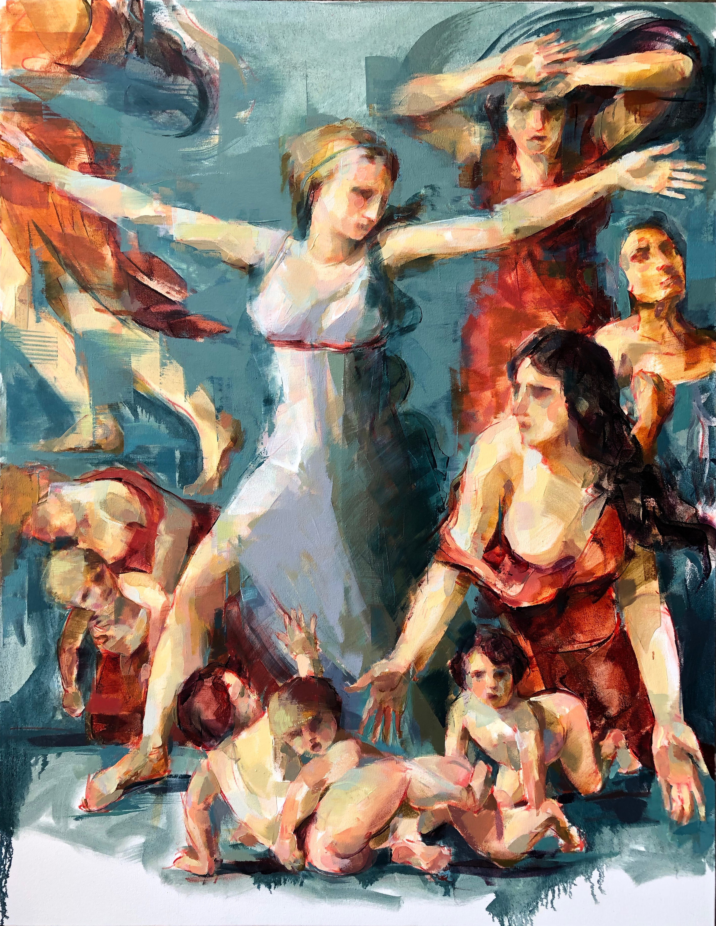 "Sabine Women  2018 Oil on canvas 53"" x 41"""