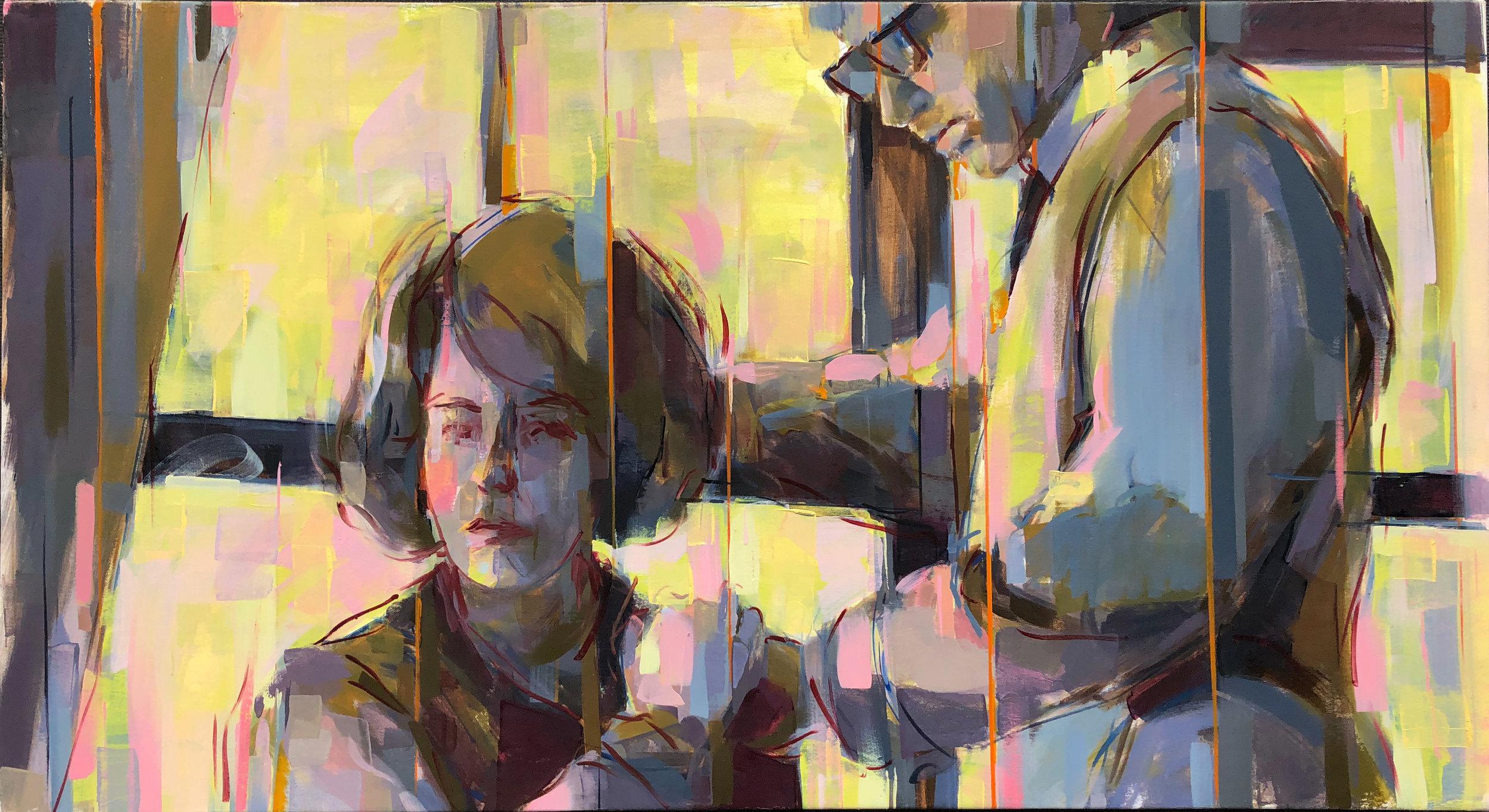 """When It's Dark  2017 Oil on canvas 27"""" x 48"""""""