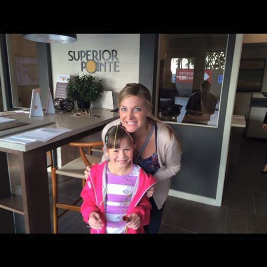 Congratulations Shanna!!!! Shanna with my daughter Gracie celebrating Shanna's accepted offer at Superior Pointe. Can wait to celebrate closing escrow with her on that roof top deck looking at Fashion Island.