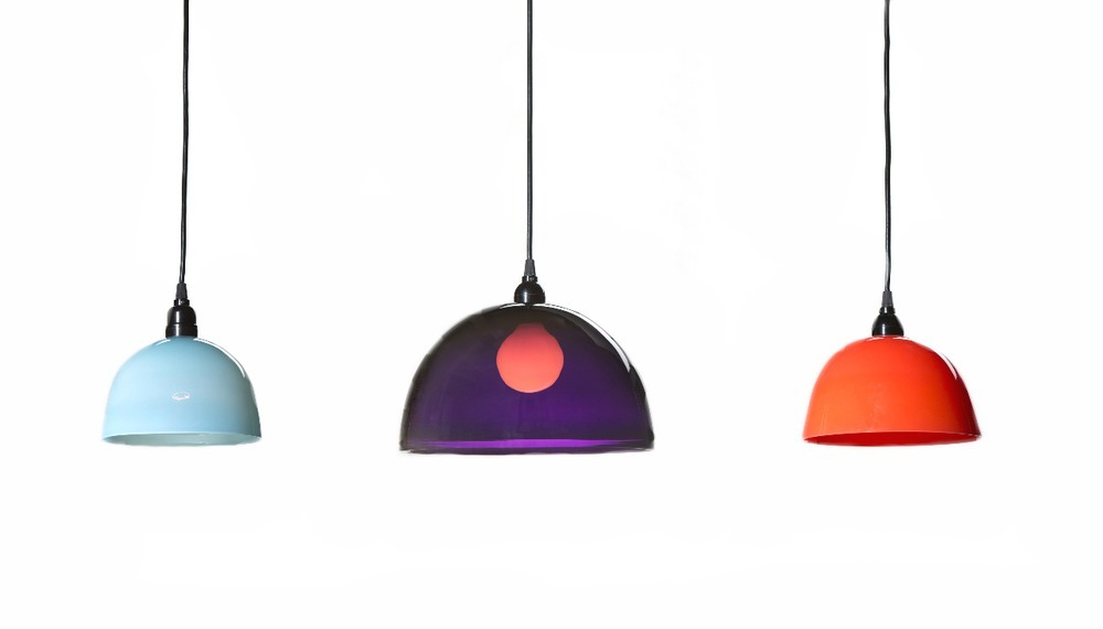 Simple Pendant from $350  Pendants come two sizes. Small for use of multiple fixtures or large for single use to provide adequate light for a dining space. Colors vary and can be customized upon request.