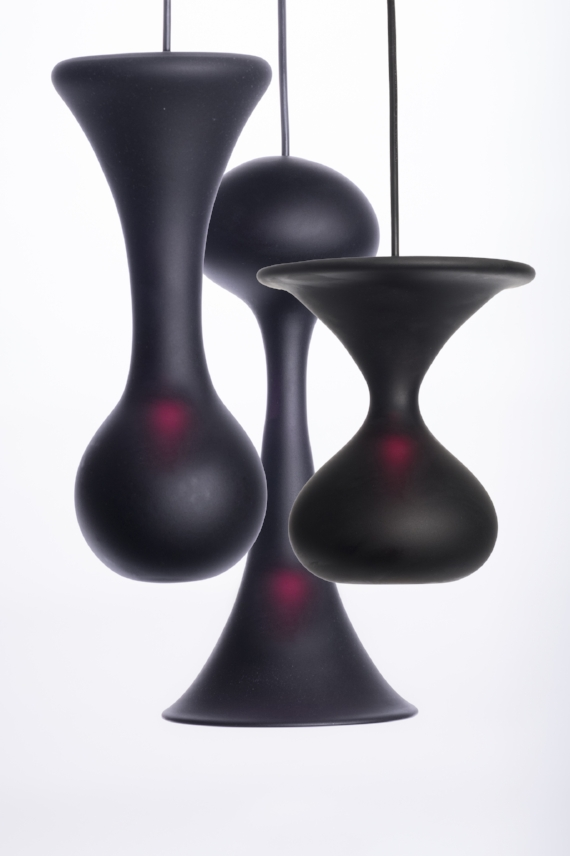 Flatliner Pendant $1,200  Colors come in Eco Black or White Satin with a matching black or white canopy and chord. Sizes vary from small to medium and length is customizable.