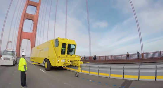 A  Daily Kos  story about the new zipper truck on the Golden Gate Bridge quotes Dr. Grace Dammann, head-on collision survivor.