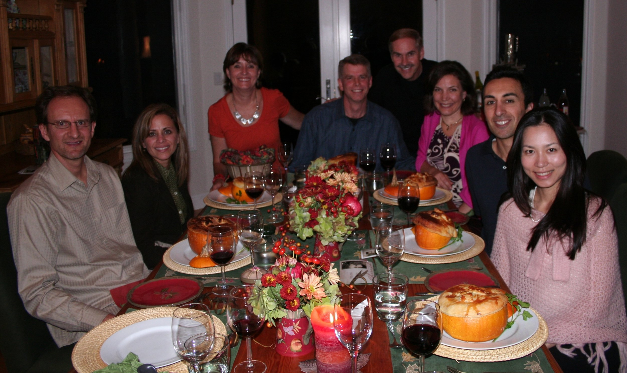 Fall Couples dinner with real pumpkins