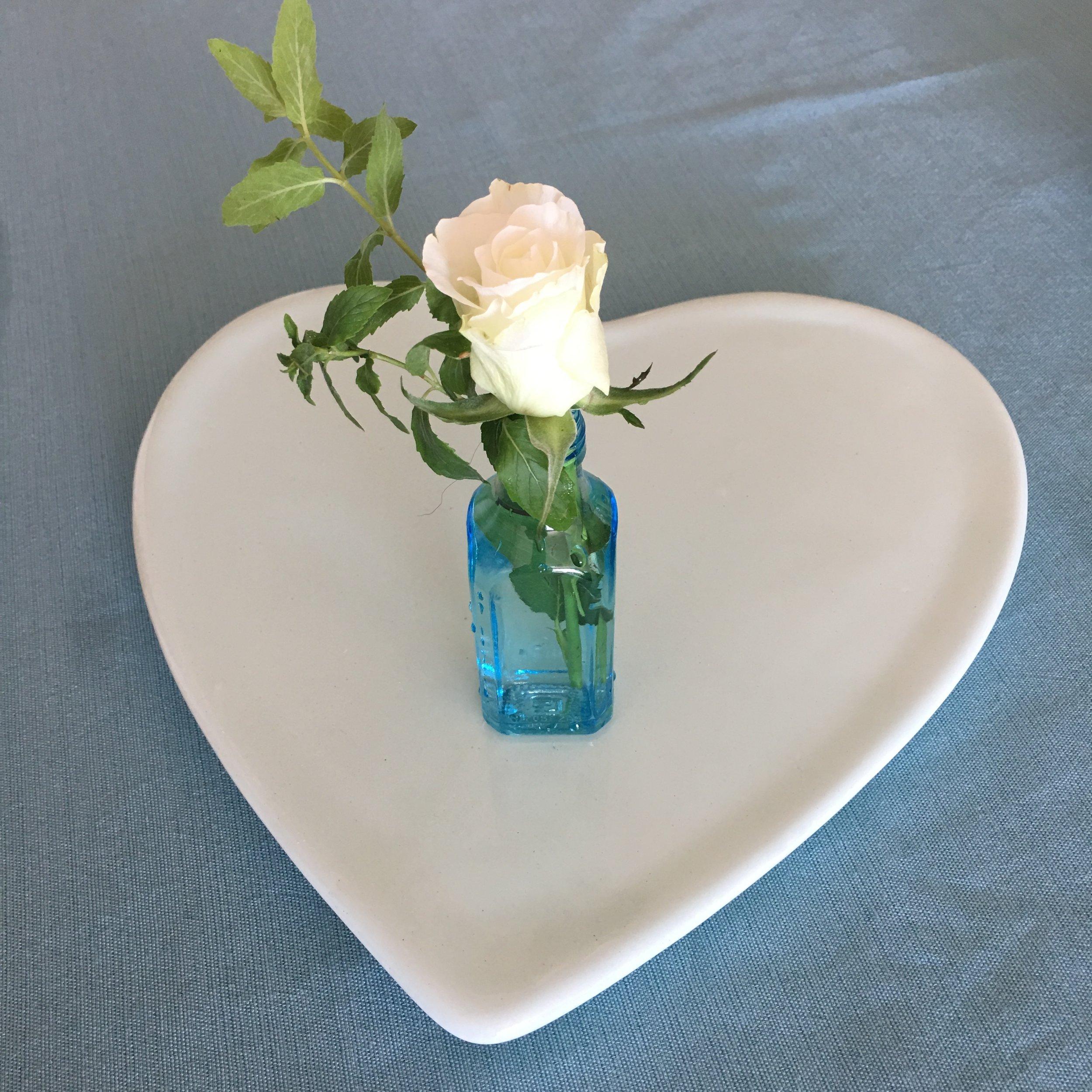 Heart and rose arrangement