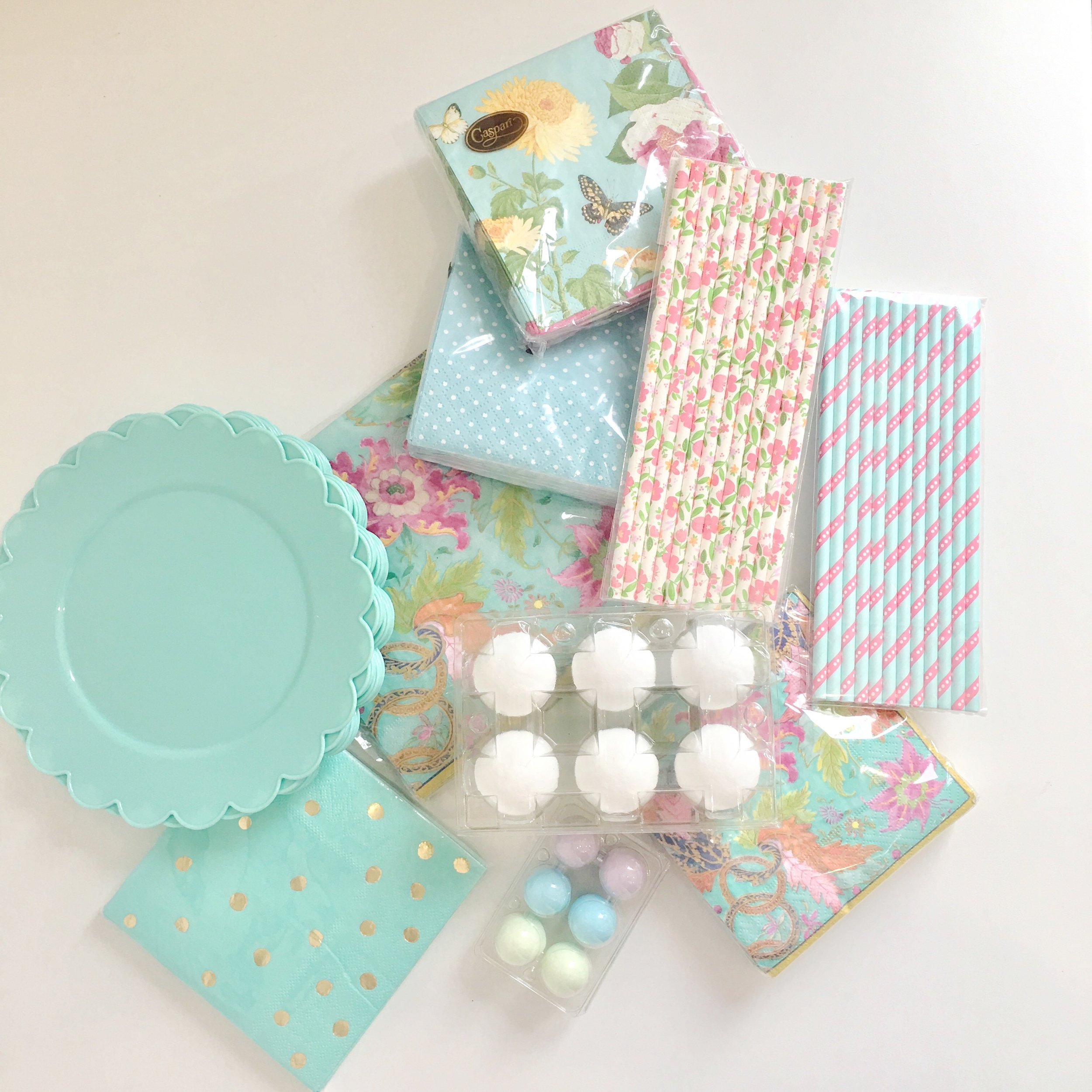 Supplies for Easter Table Settings
