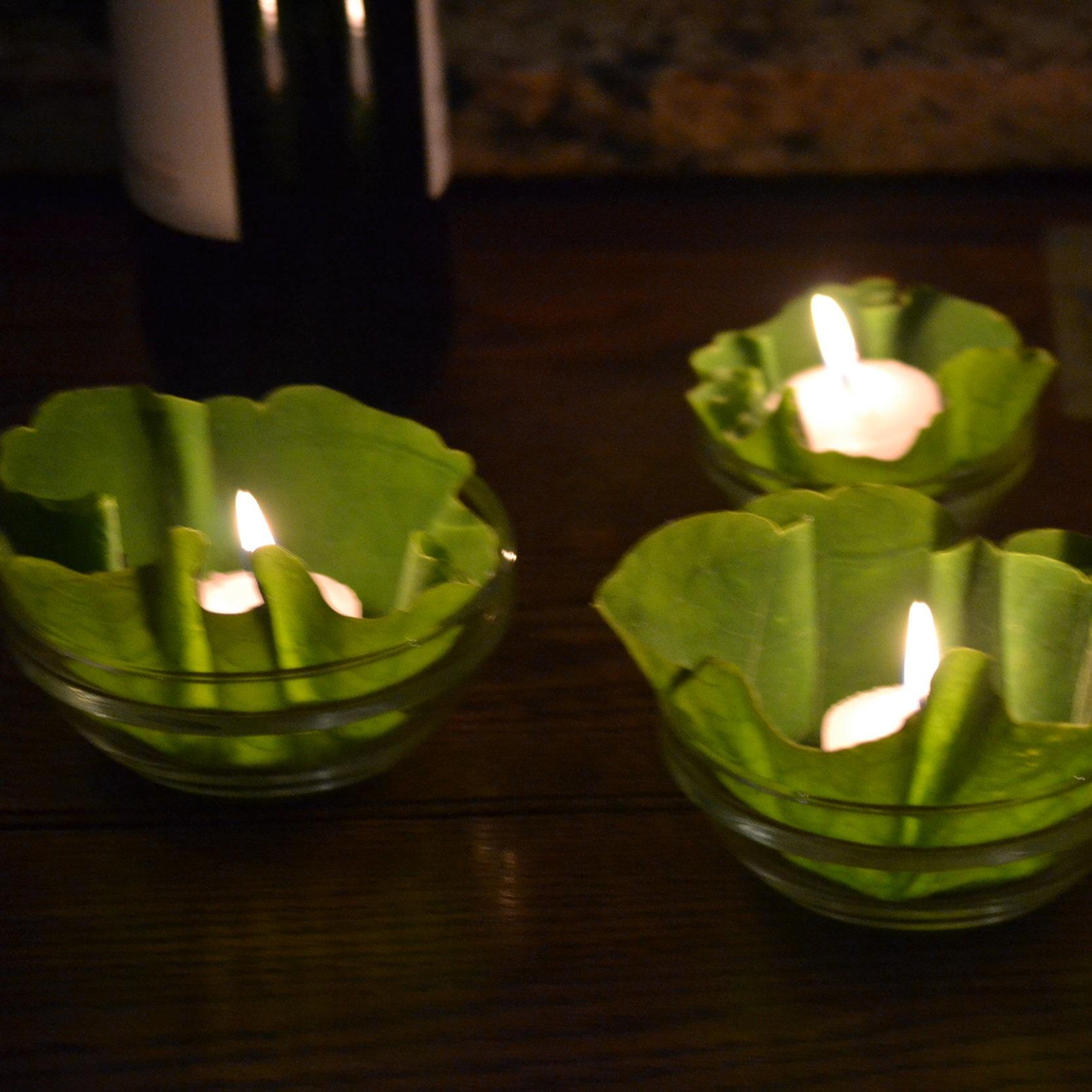 nasturtium+leaves+and+candles