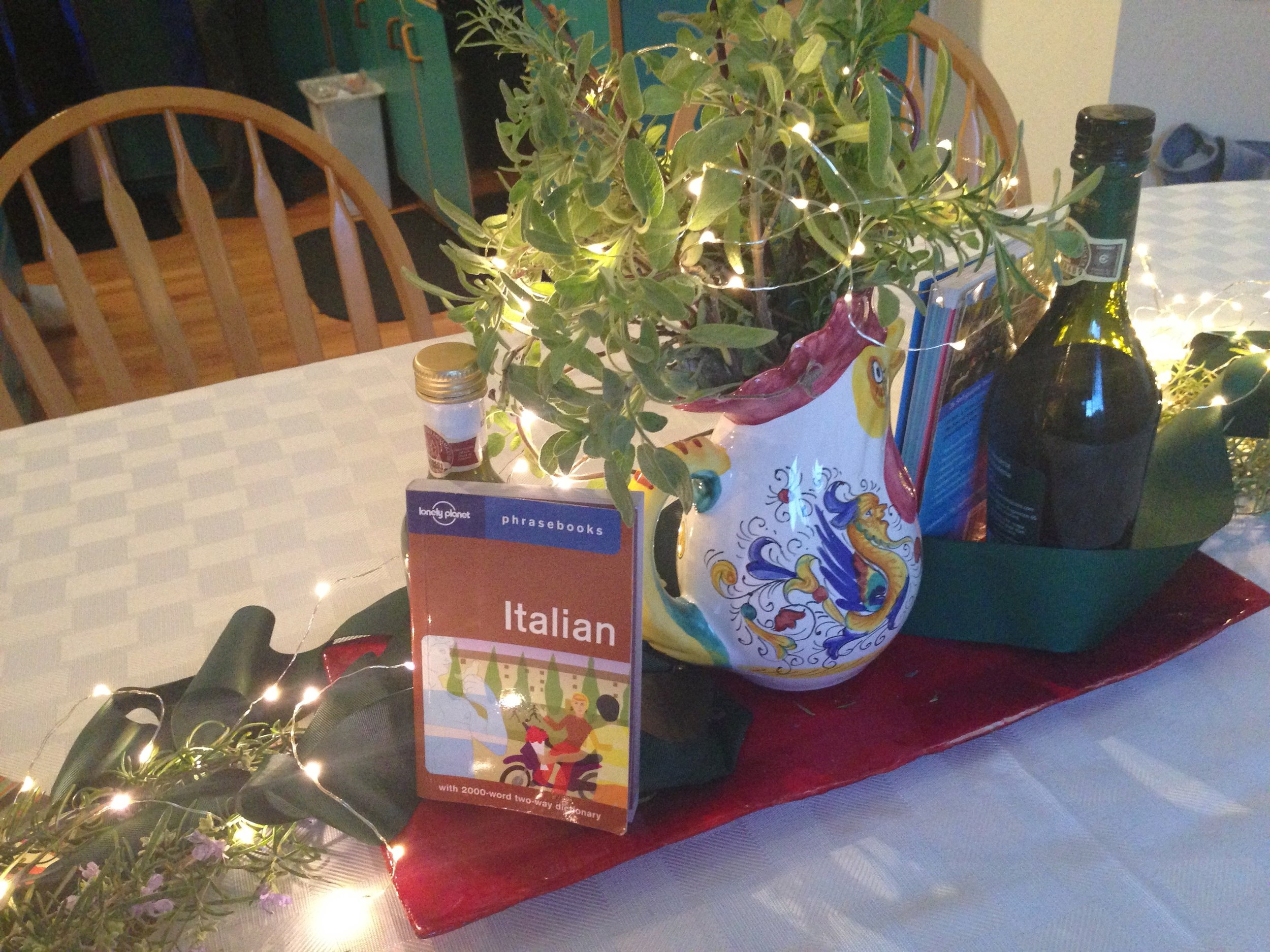 Household items for table decor