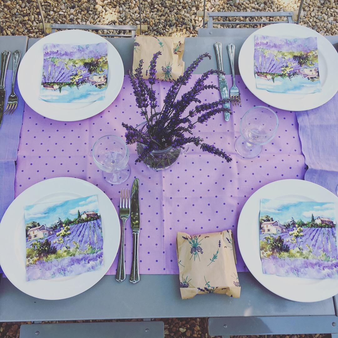 lavender napkin