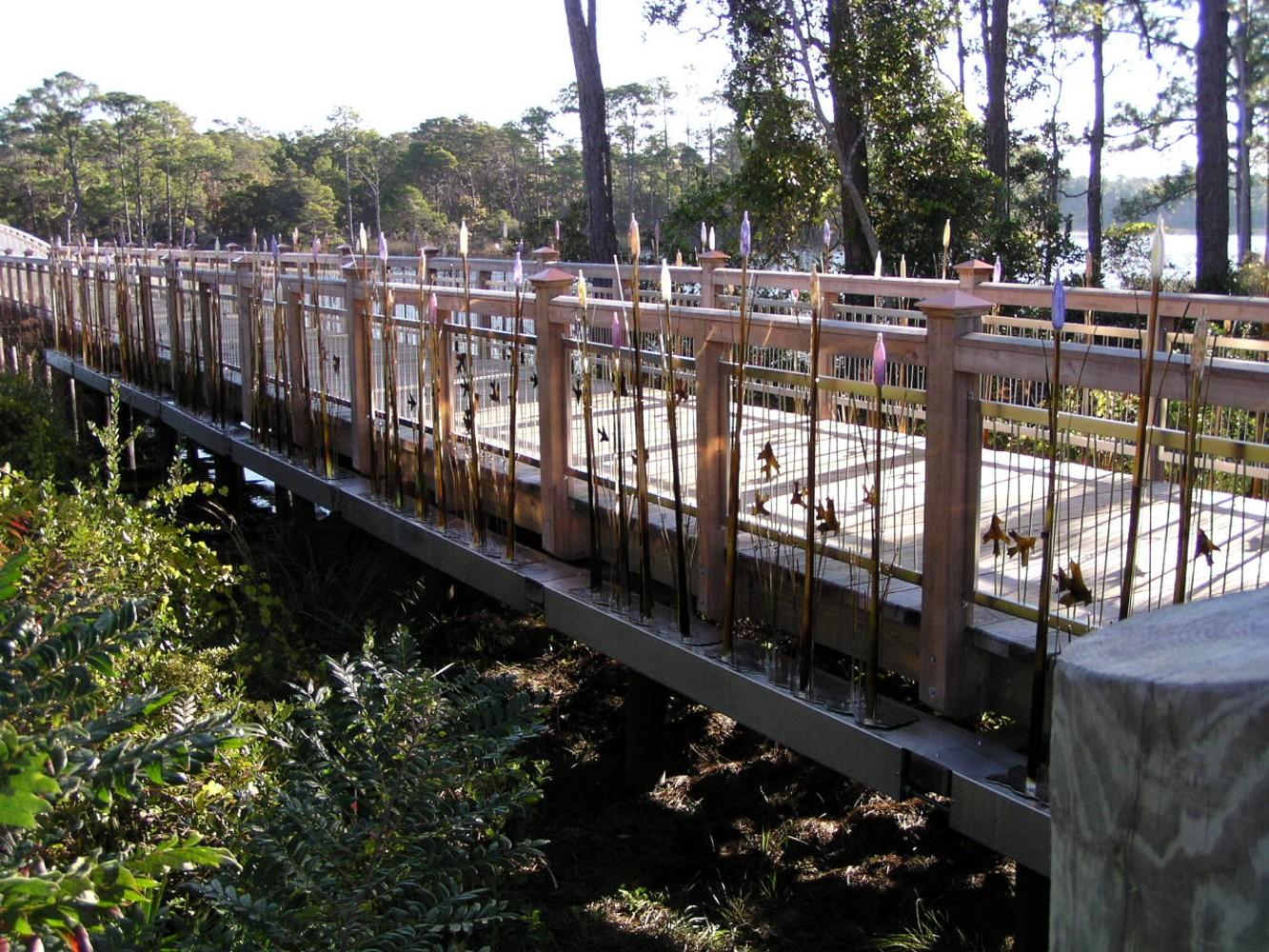 Watercolor Western Lake Bridge