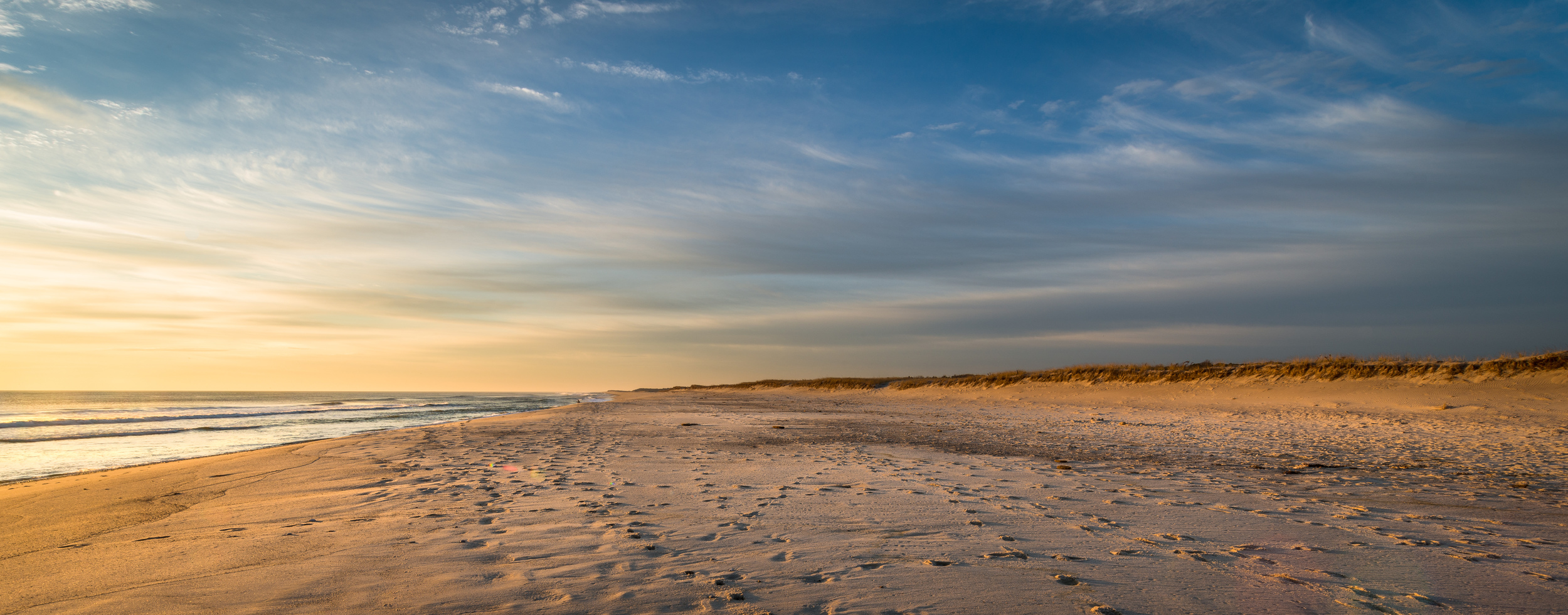 Footprints at Nauset Beach