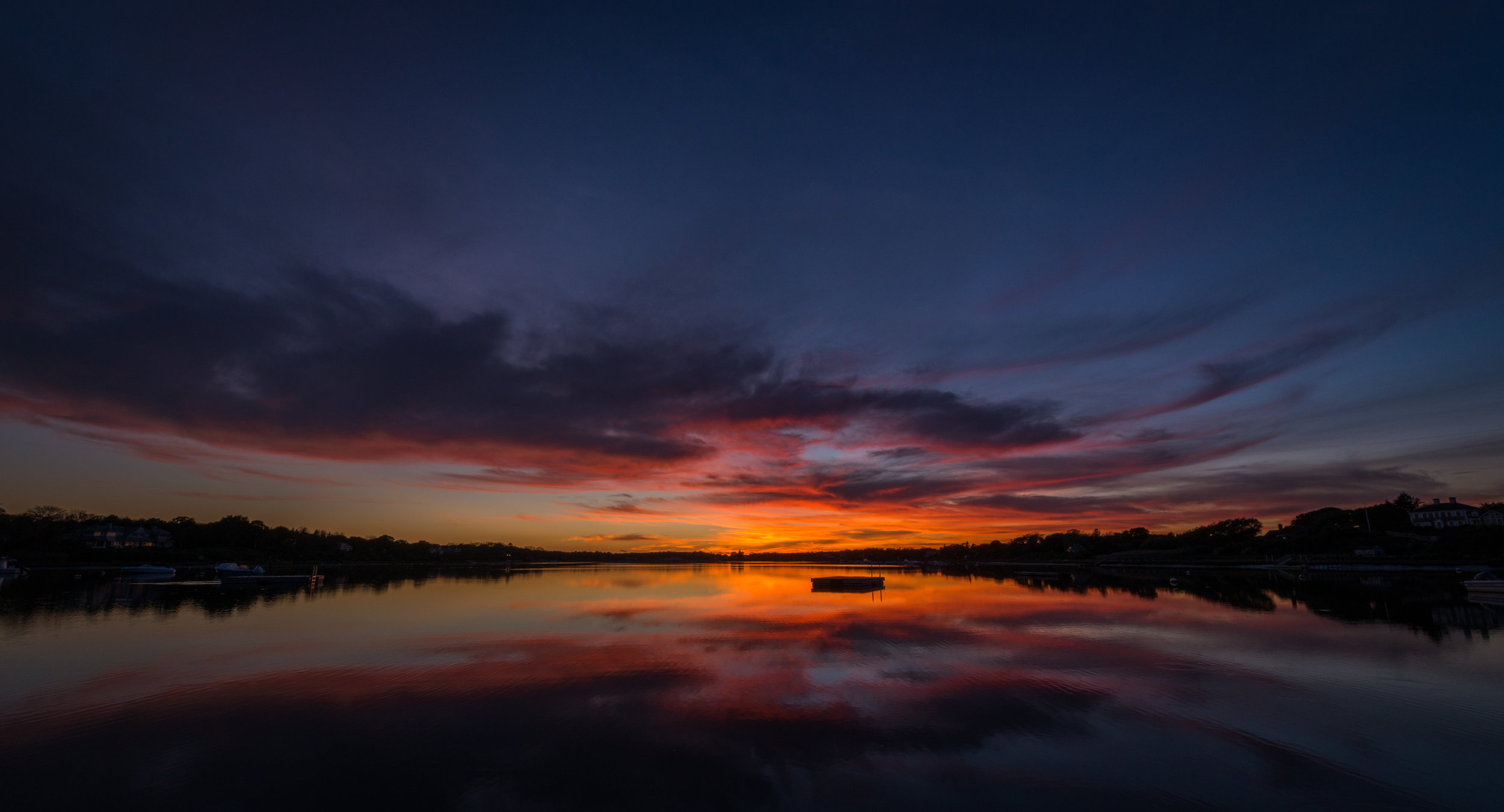 Dusk on Oyster Pond