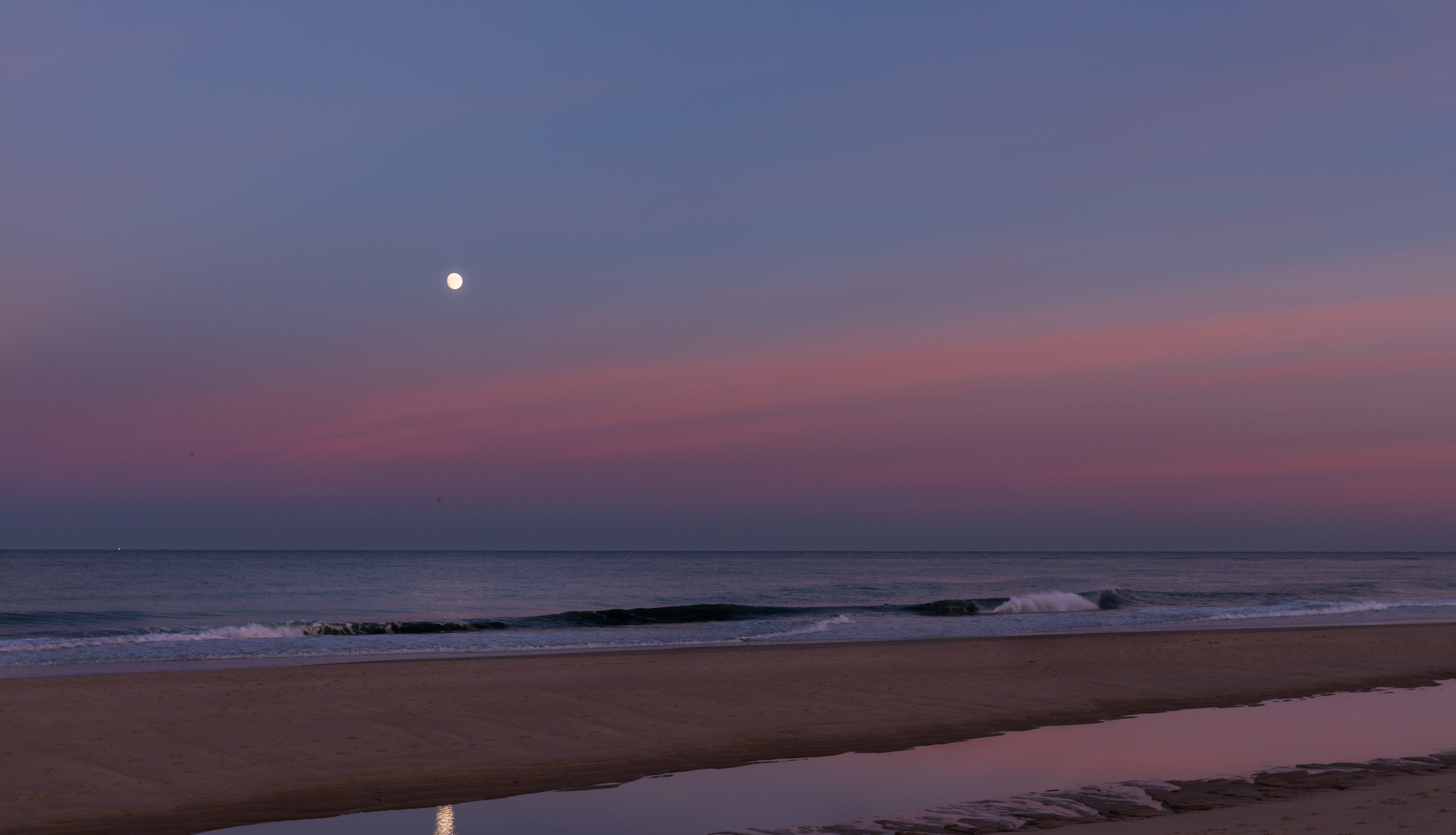 Moon over Ballston Beach