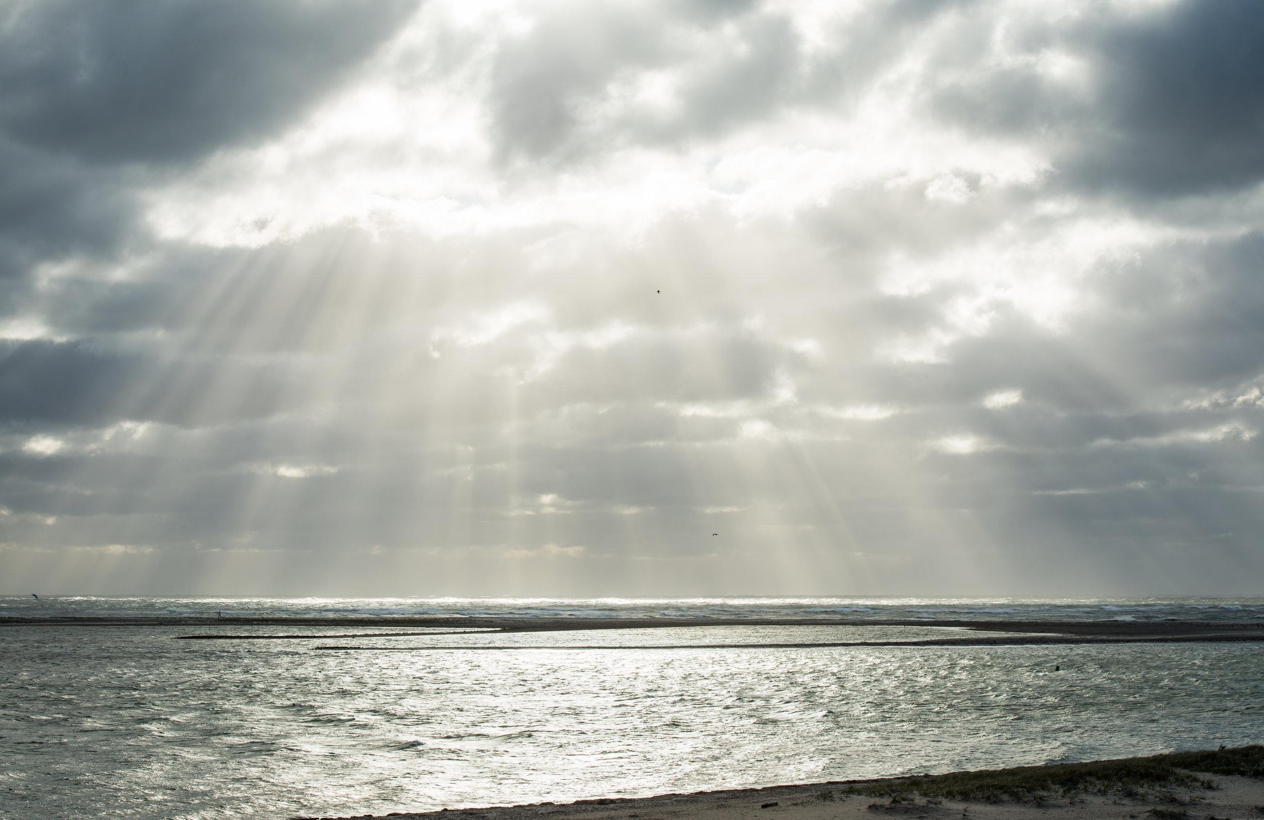 God's Rays at Lighthouse Beach
