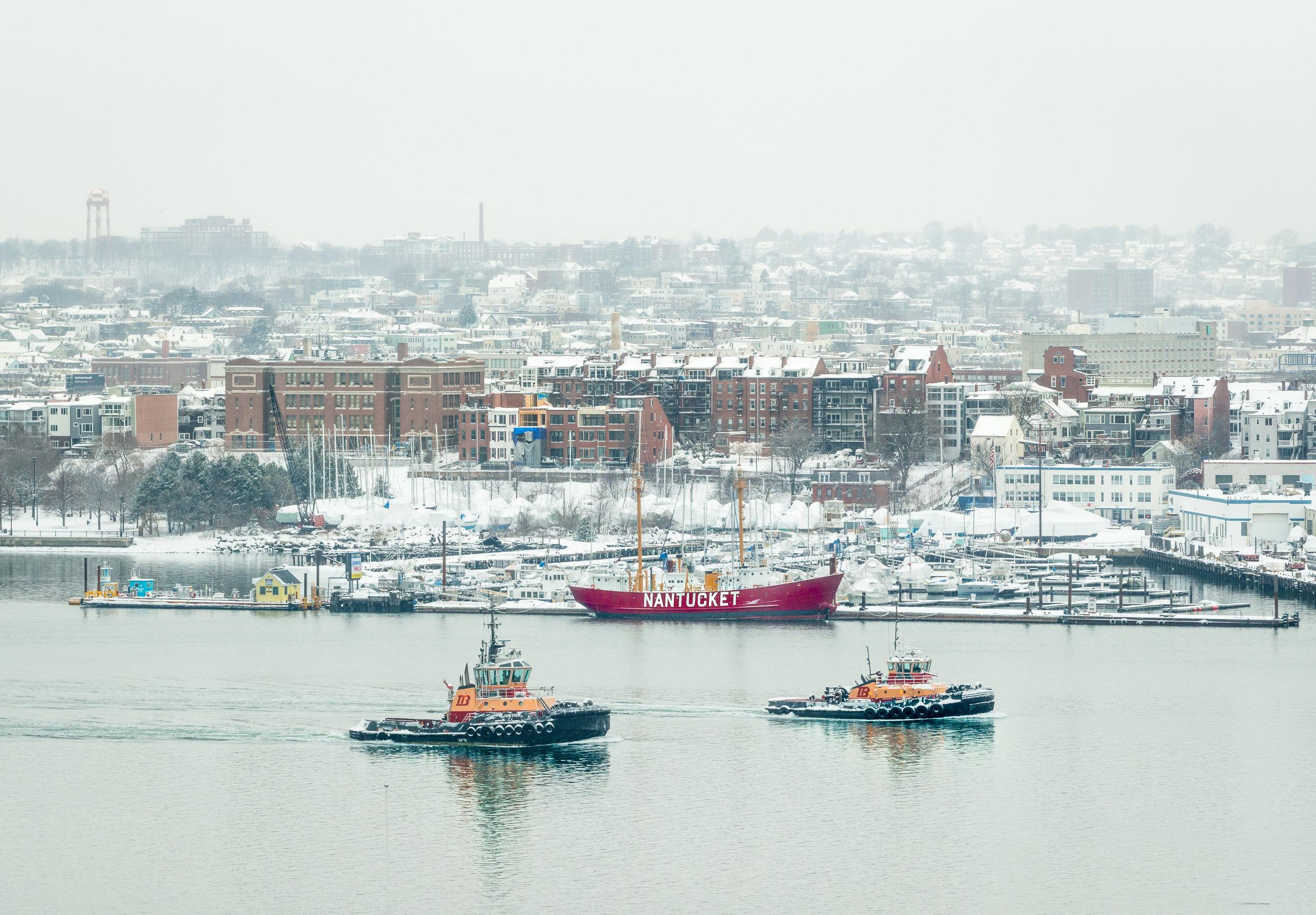 Winter at Boston Harbor