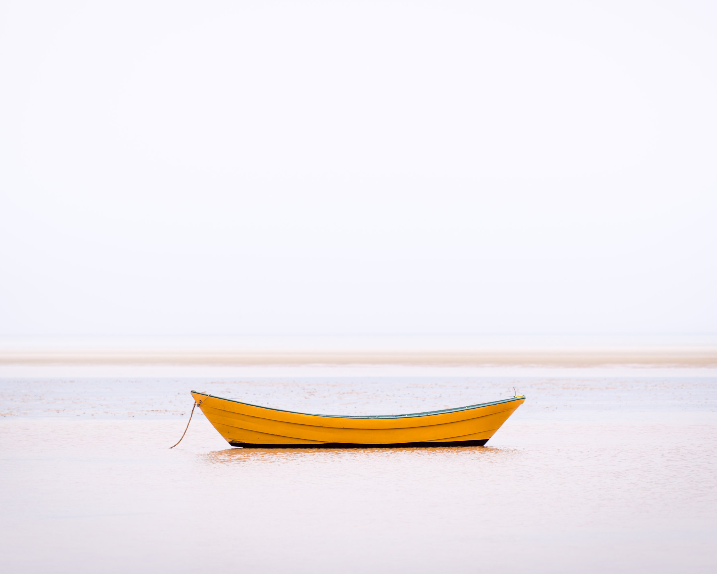 A Yellow Dory in Fog