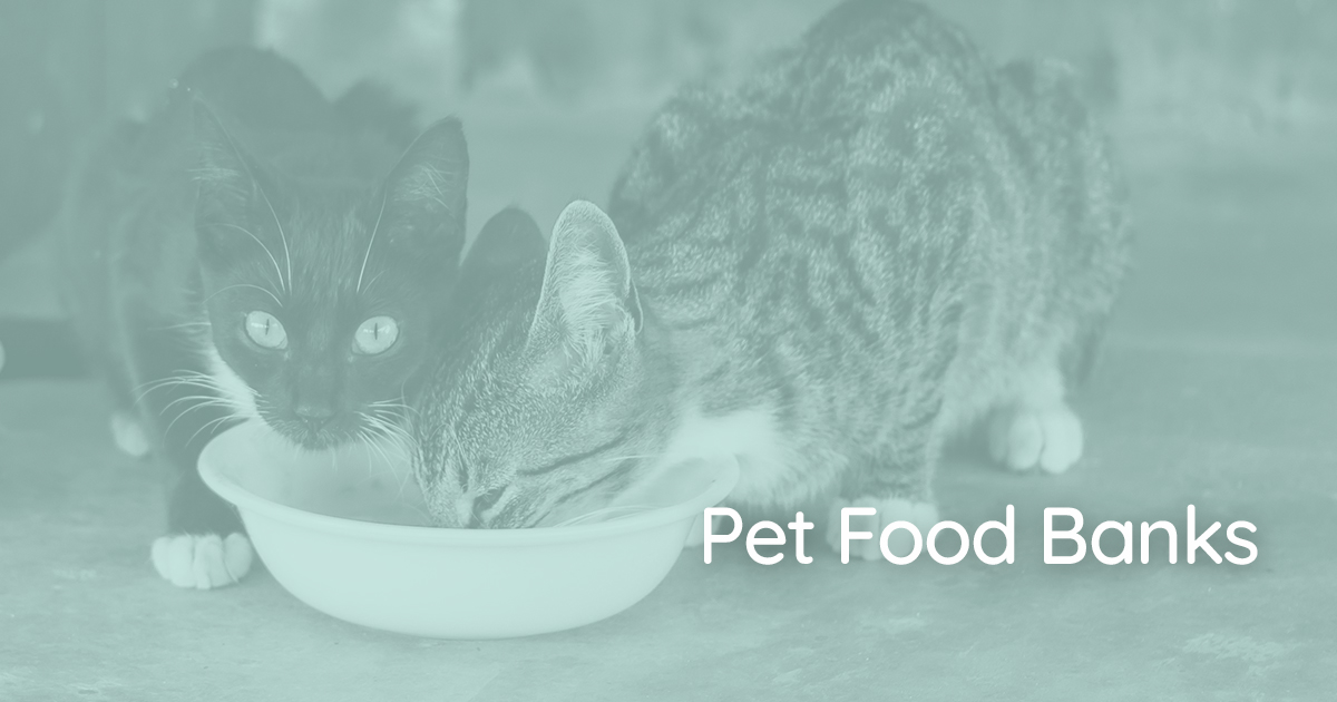 FIND PET FOOD BANKS > Many places provide a service to keep companion animals fed -