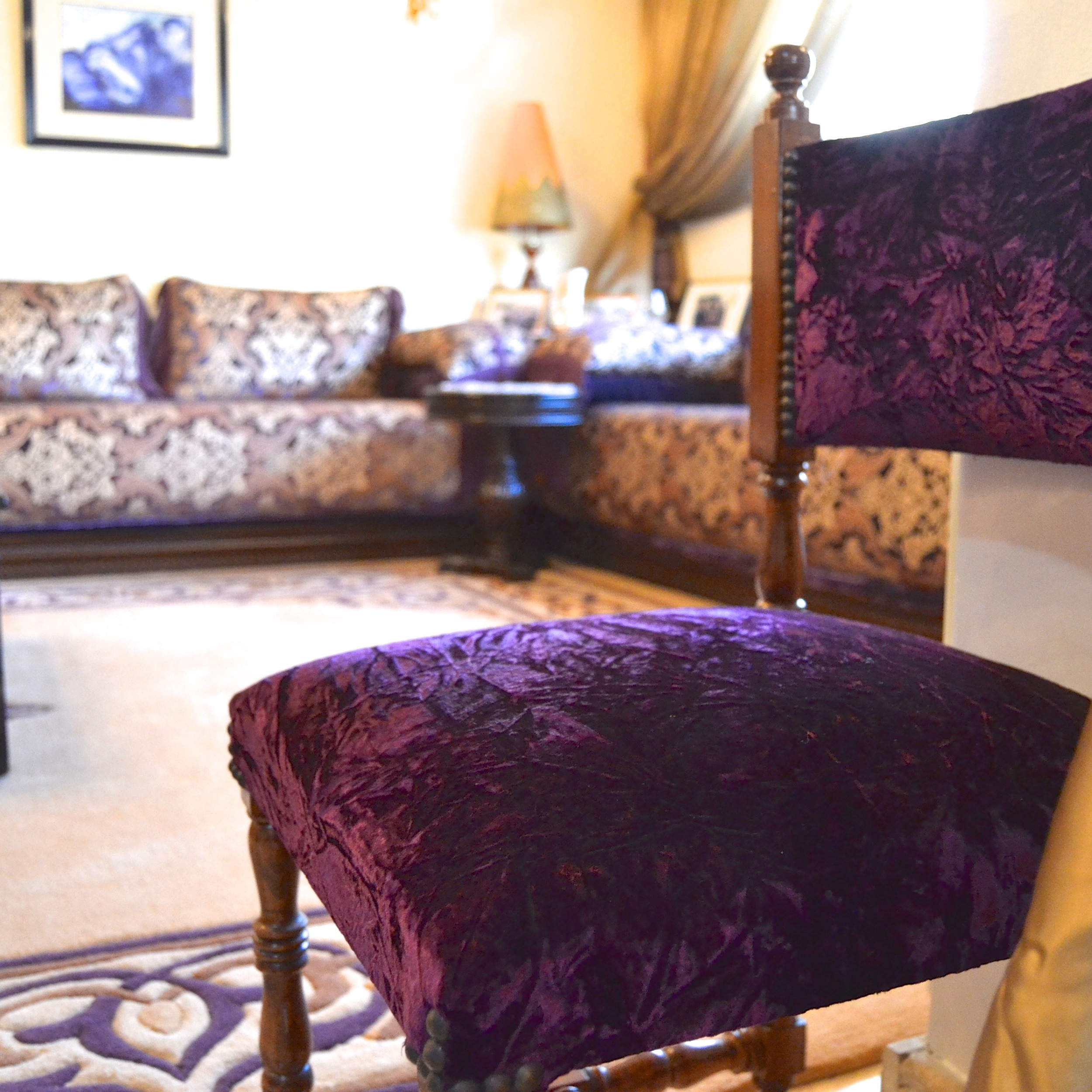 Small chairs can be pulled up for more guests to join festivities.