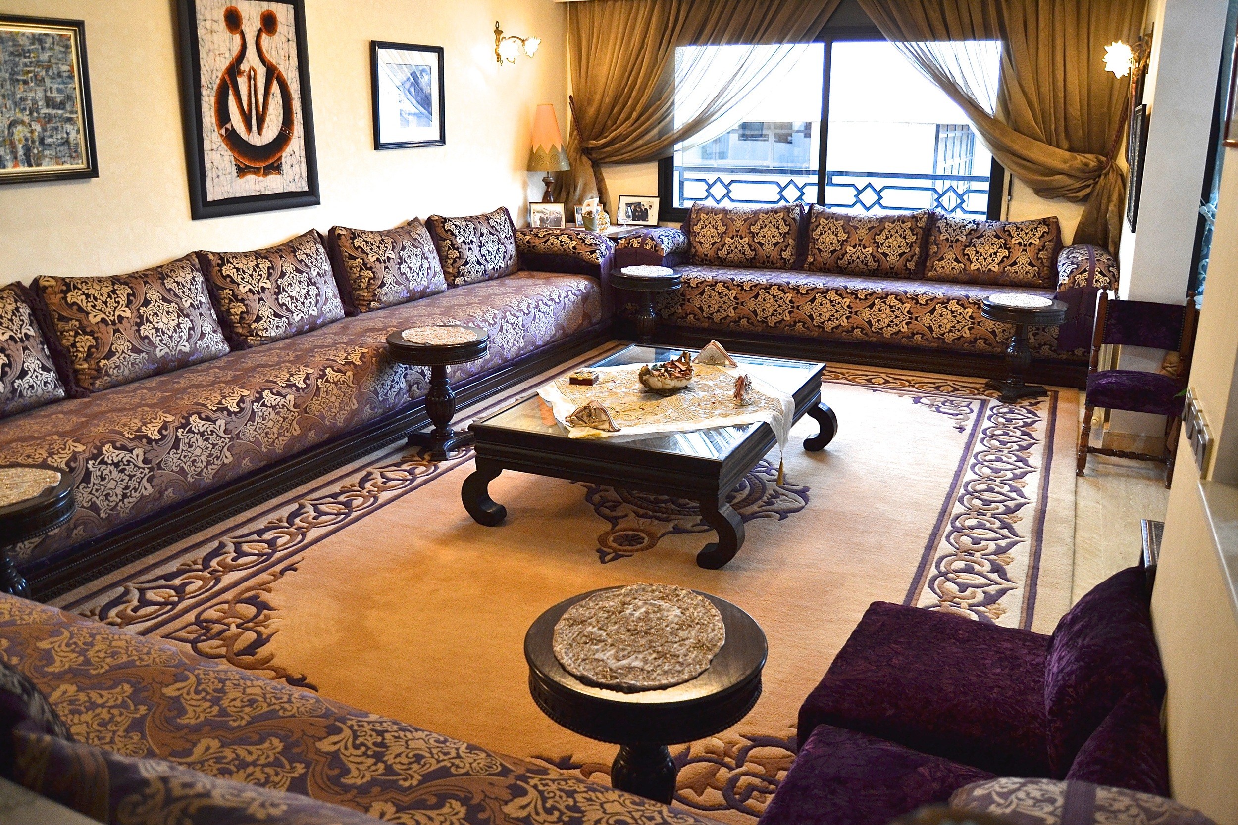 """We must have rooms large enough to accommodate our big Moroccan families,"" Thouria laughs."