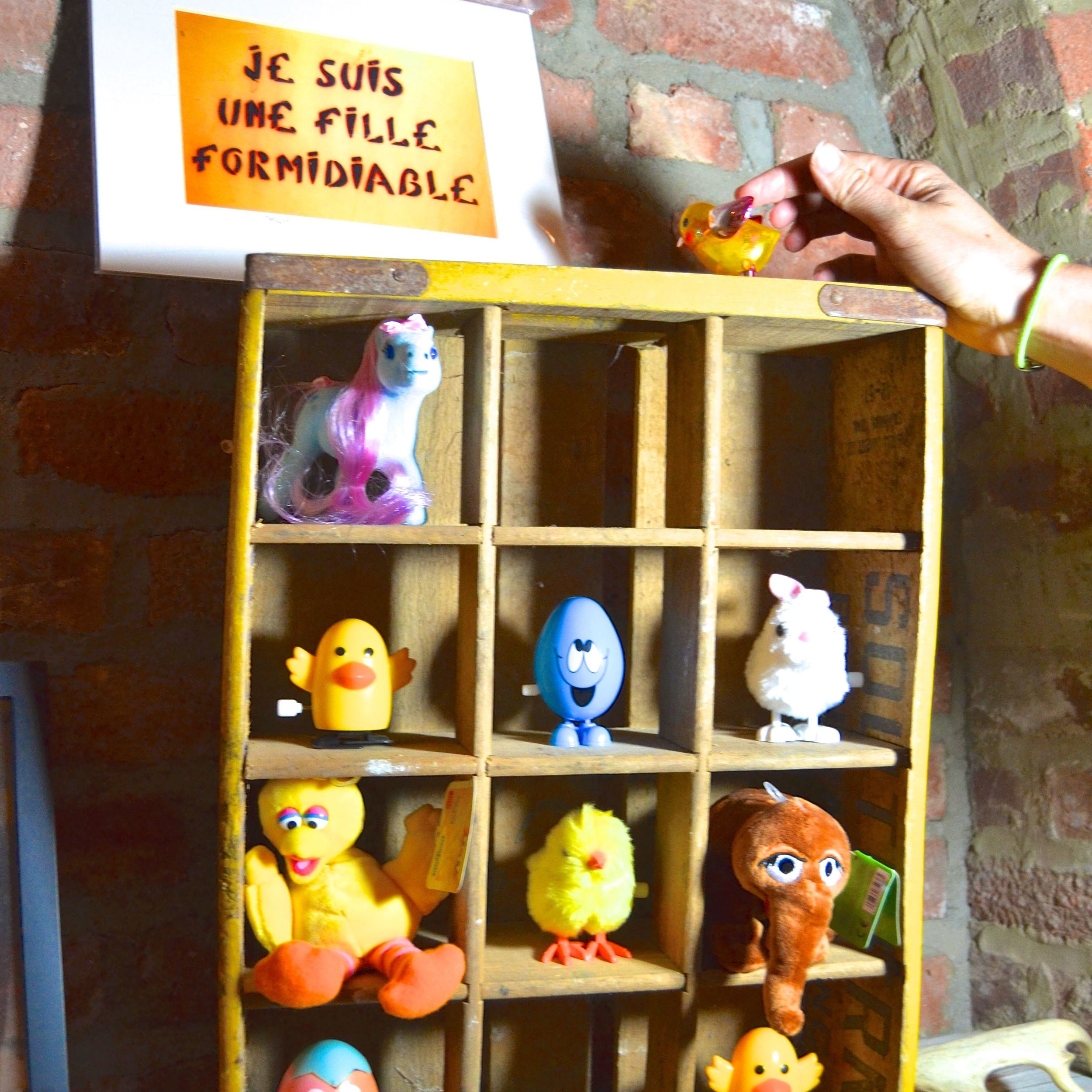 A collection of toys from the yearly Easter basket (see interview below).
