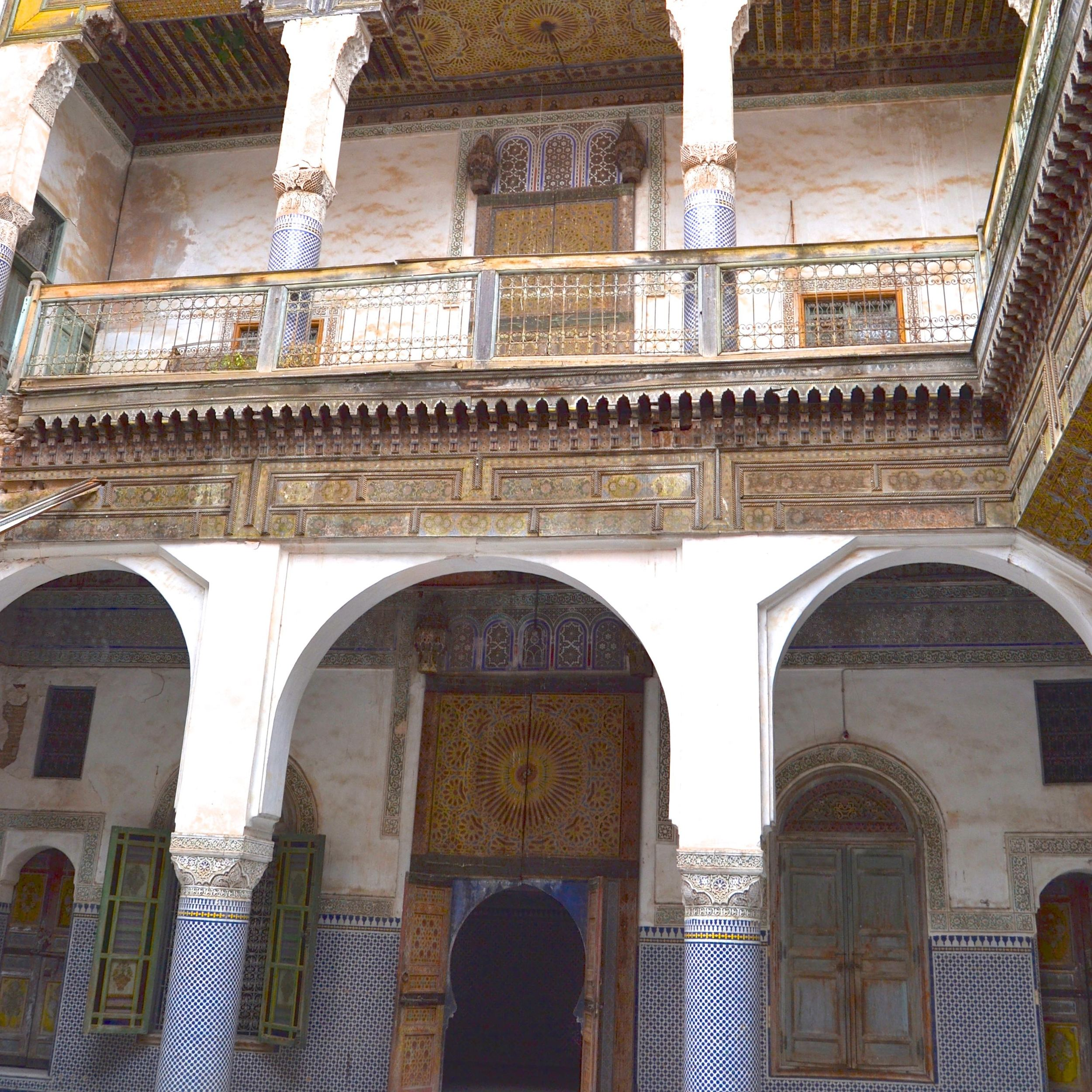 The Glaoui Palace Inner Courtyard