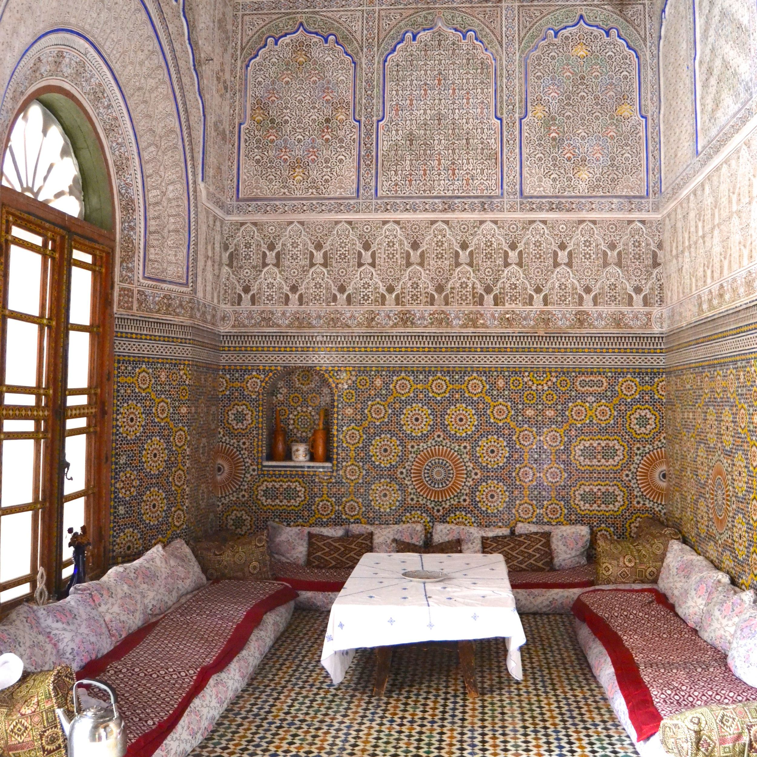 The Glaoui Palace Living Room