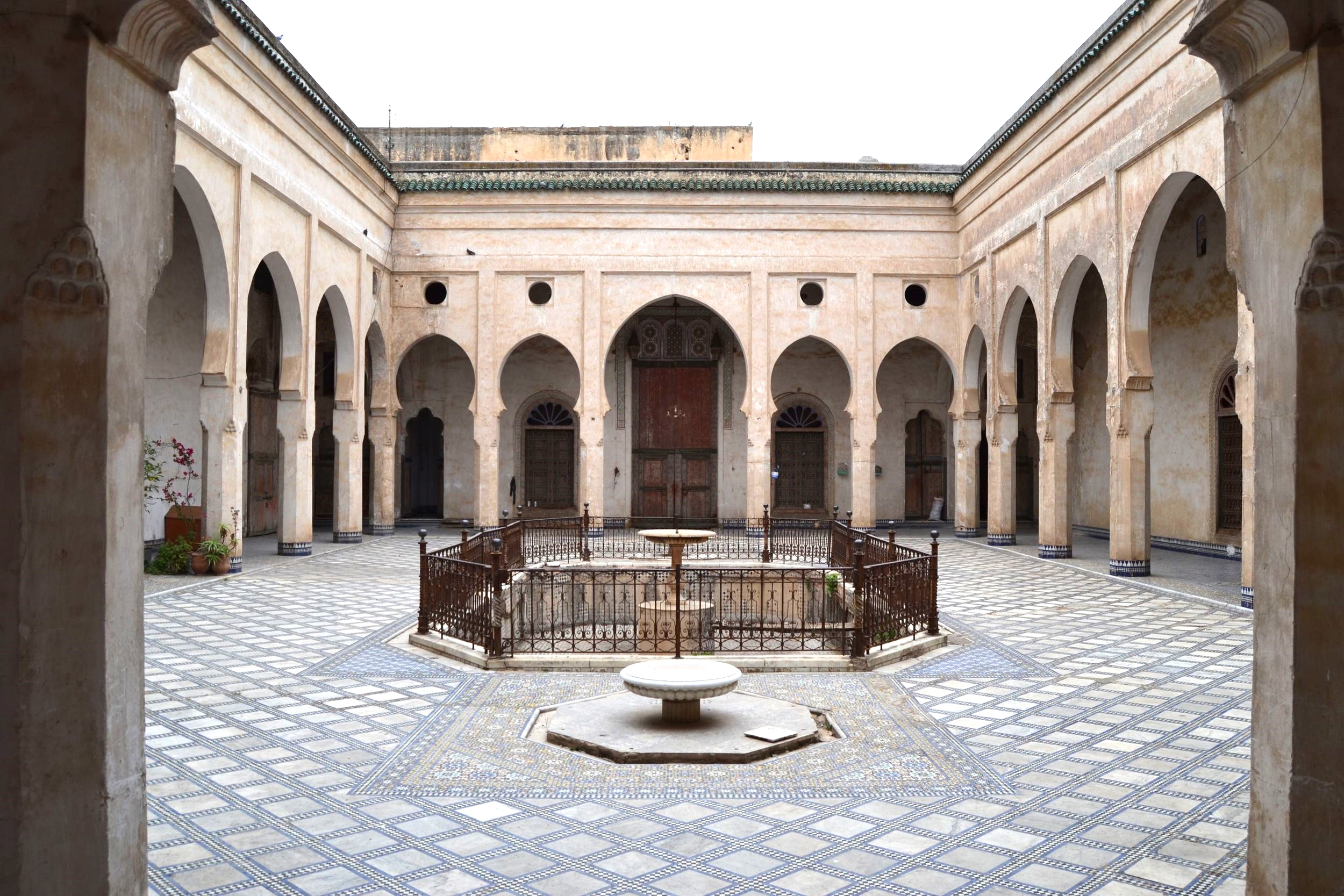 The Glaoui Palace Courtyard