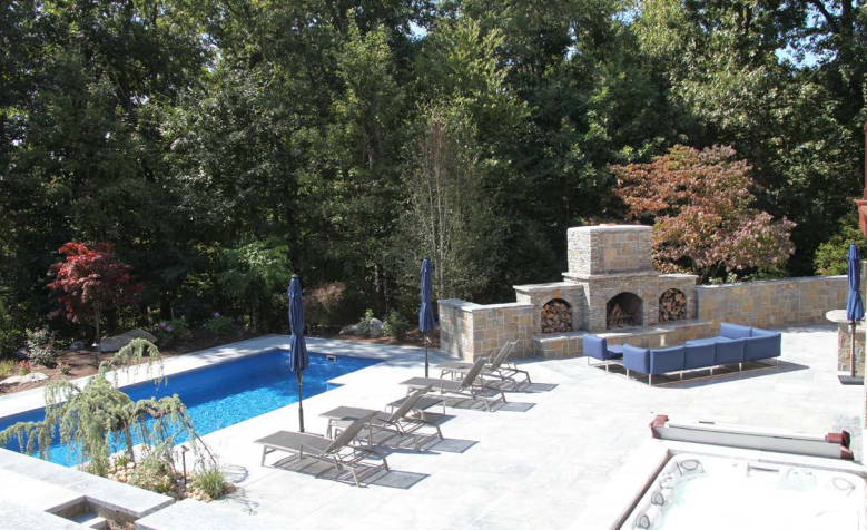 outdoor living space by Outdoor Kitchen Design Store by Preferred Properties in Cheshire, CT.