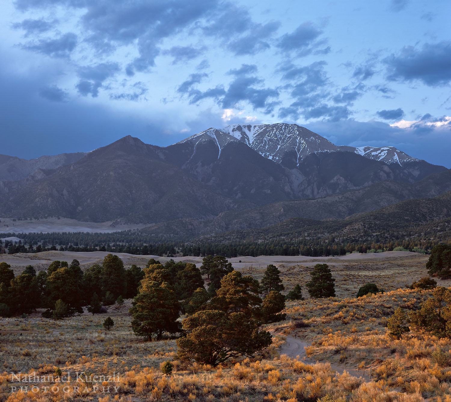 Sangre De Cristo Mountains, Great Sand Dunes NP, Colorado, May 2009