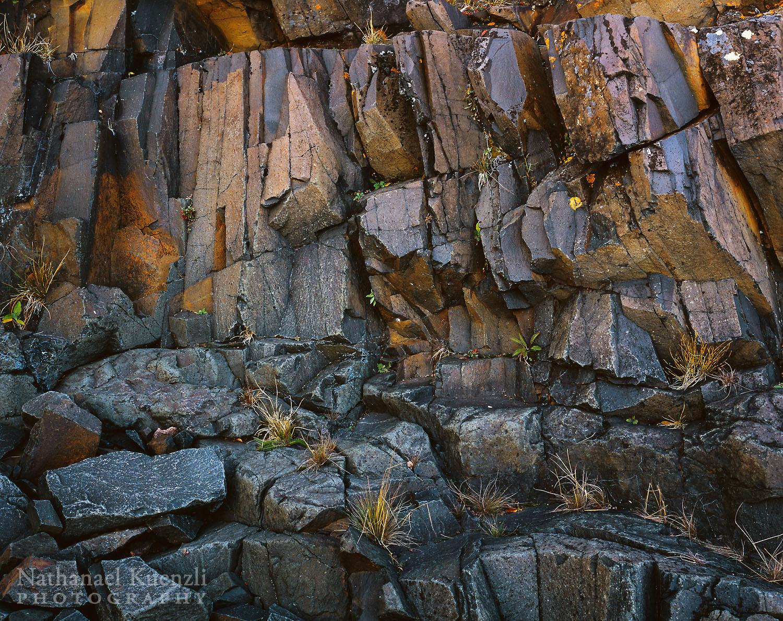 Rock Detail, Grand Portage State Forest, Minnesota, October 2006