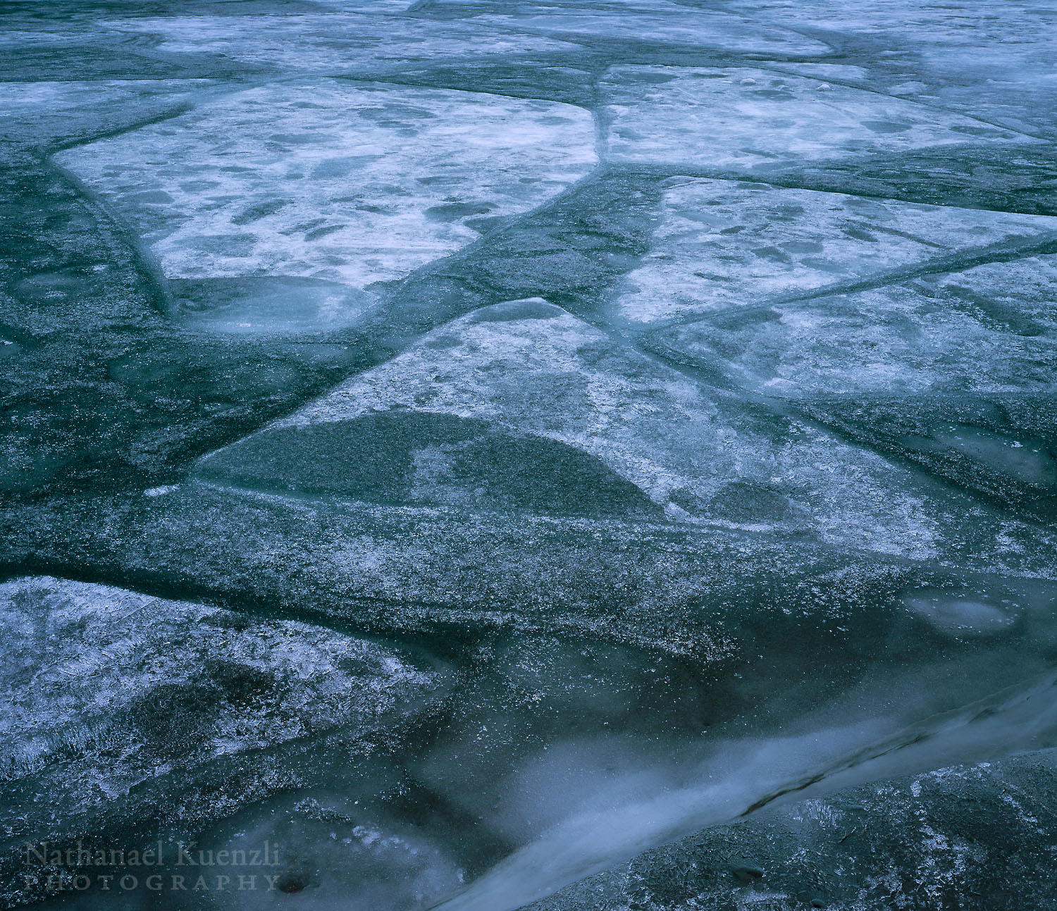 Lake Superior Ice, Grand Portage State Forest, Minnesota, March 2003