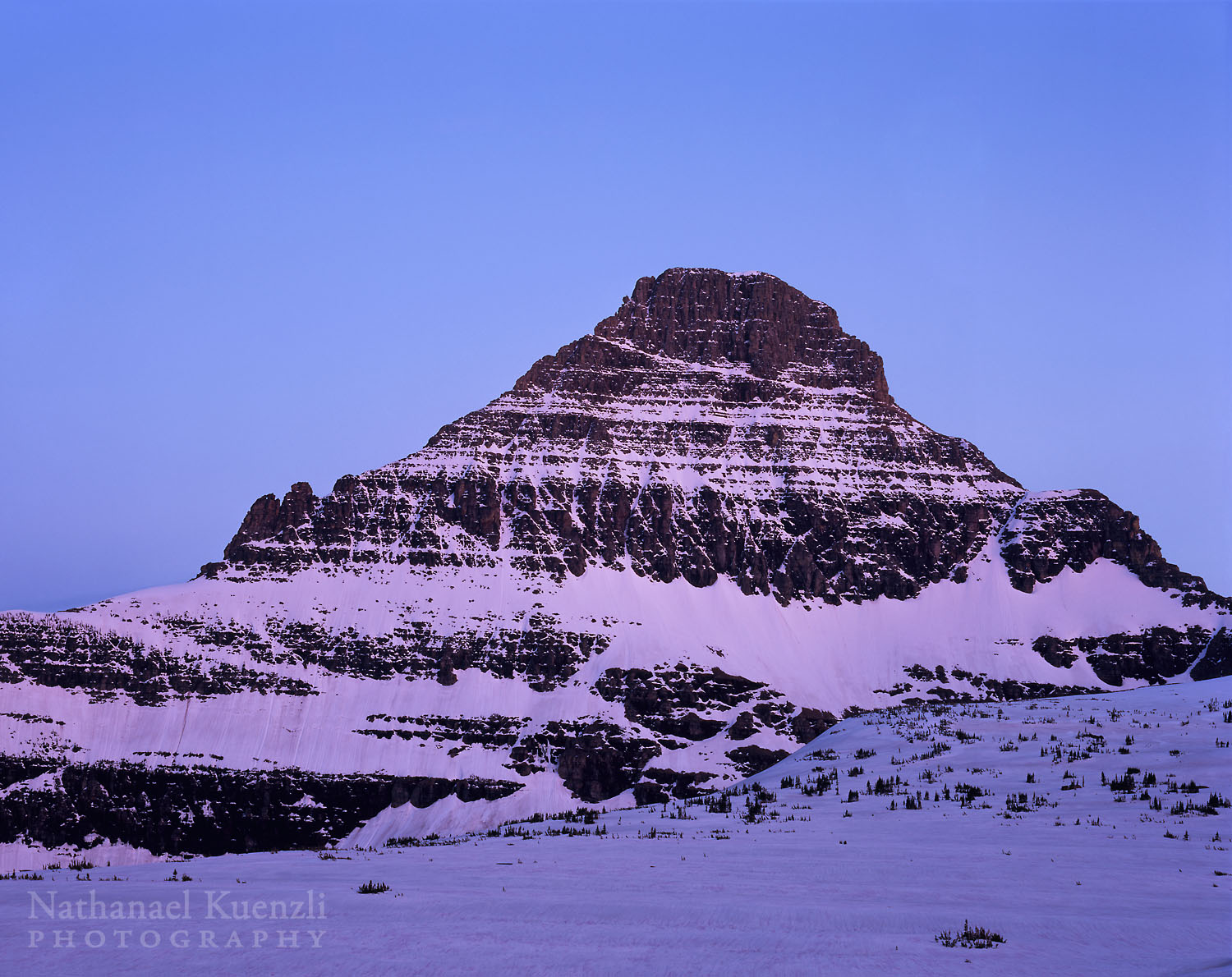 Reynolds Mountain, Glacier National Park, Montana, June 2004