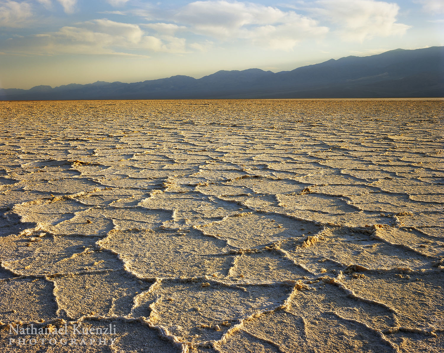 Badwater Basin and Panamint Range, Death Valley National Park, California, April 2008