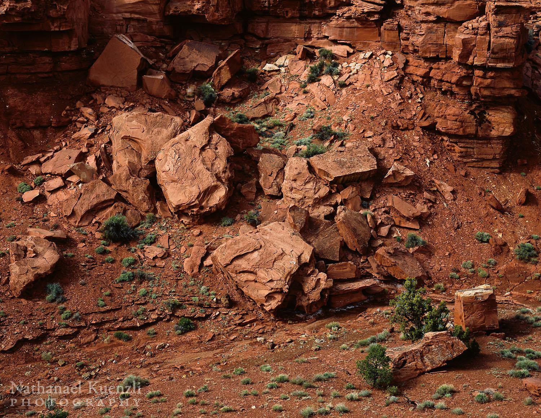 Cliff Erosion, Capitol Reef National Park, Utah, May 2005