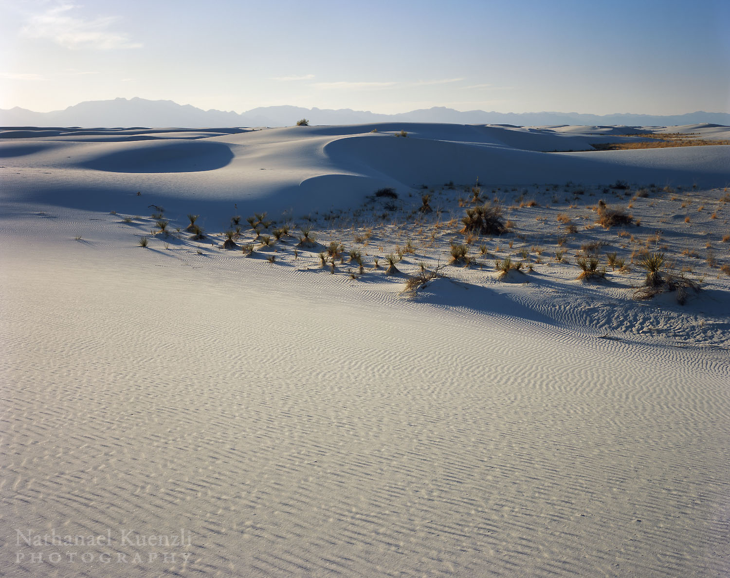 Evening Light, White Sands National Monument, New Mexico, March 2008