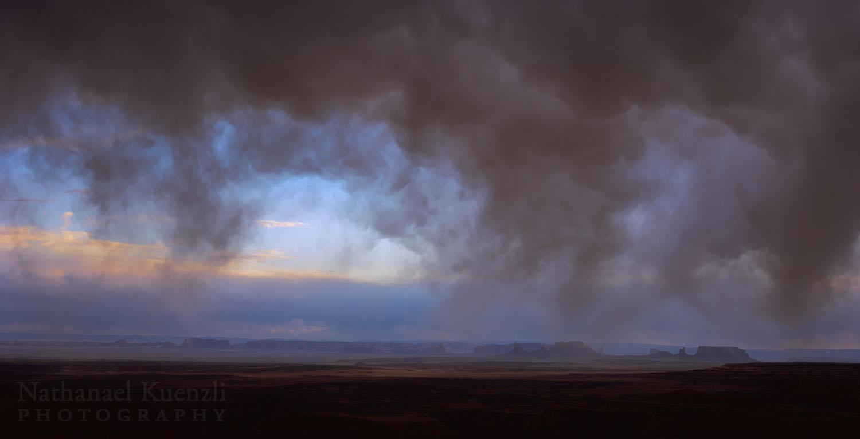 Storm Over Monument Valley, Utah - Arizona, March 2008