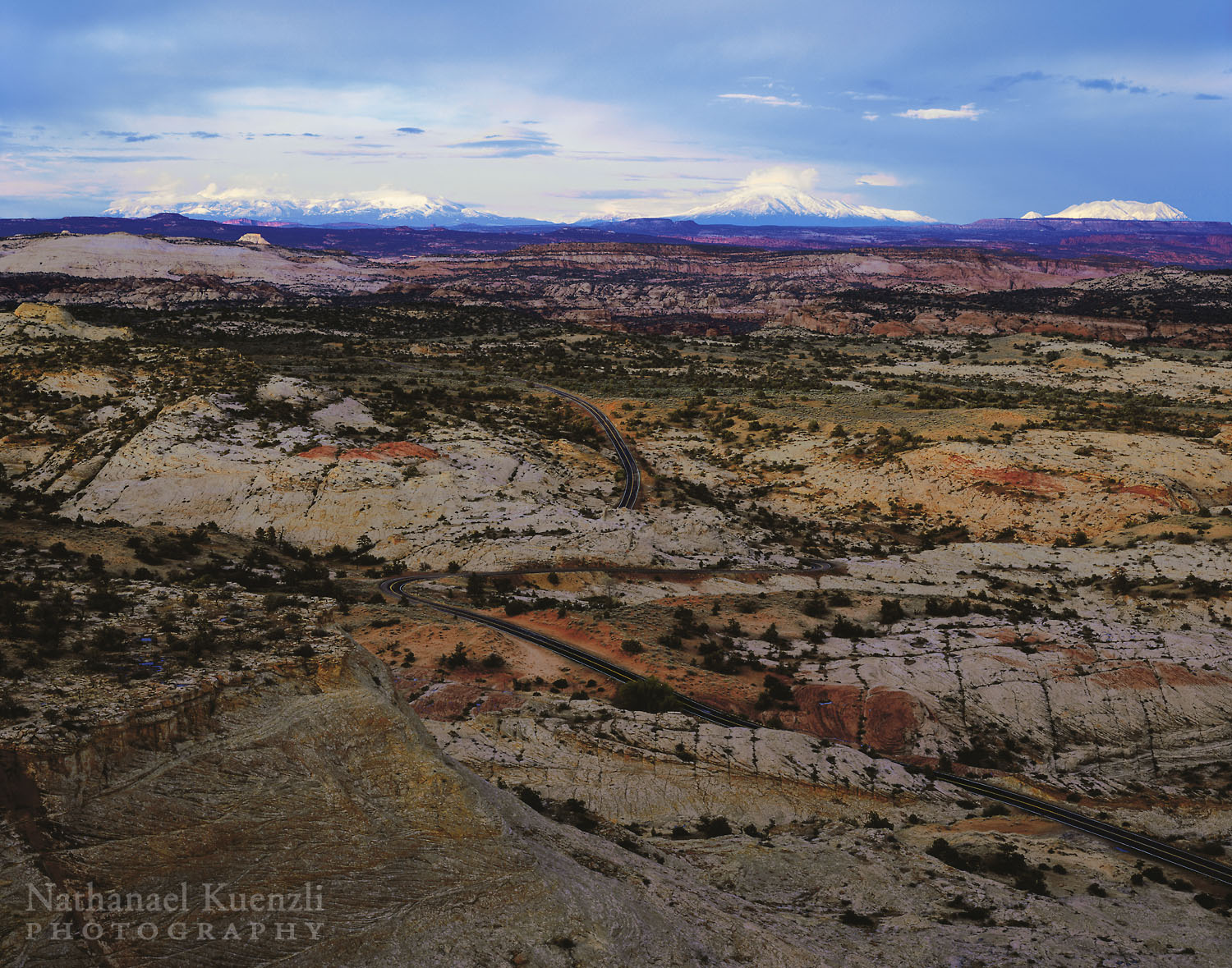 Sunset, Henry Mountains, Grand Staircase-Escalante National Monument, Utah, April 2005