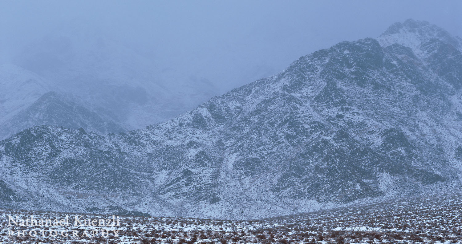 Snow, Cottonwood Mountains, Death Valley NP, California, February 2011
