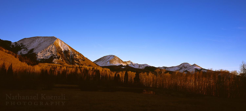 Sunset, LaSal Mountains, Manti-LaSal NF, Utah, November 2010