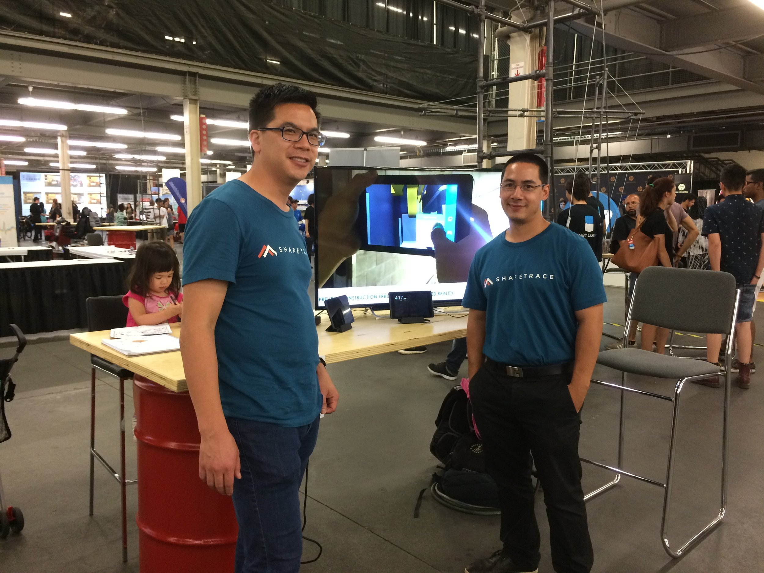 Image 2: Co-founders Ernest and Julien at the Shapetrace booth.