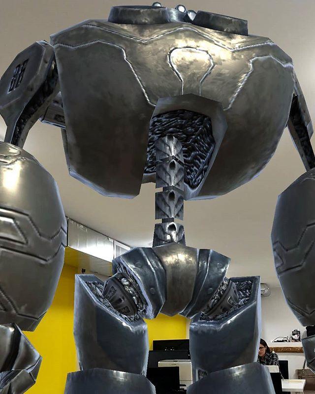 Robot in the office AR test with @sooonall @ainsleymoir