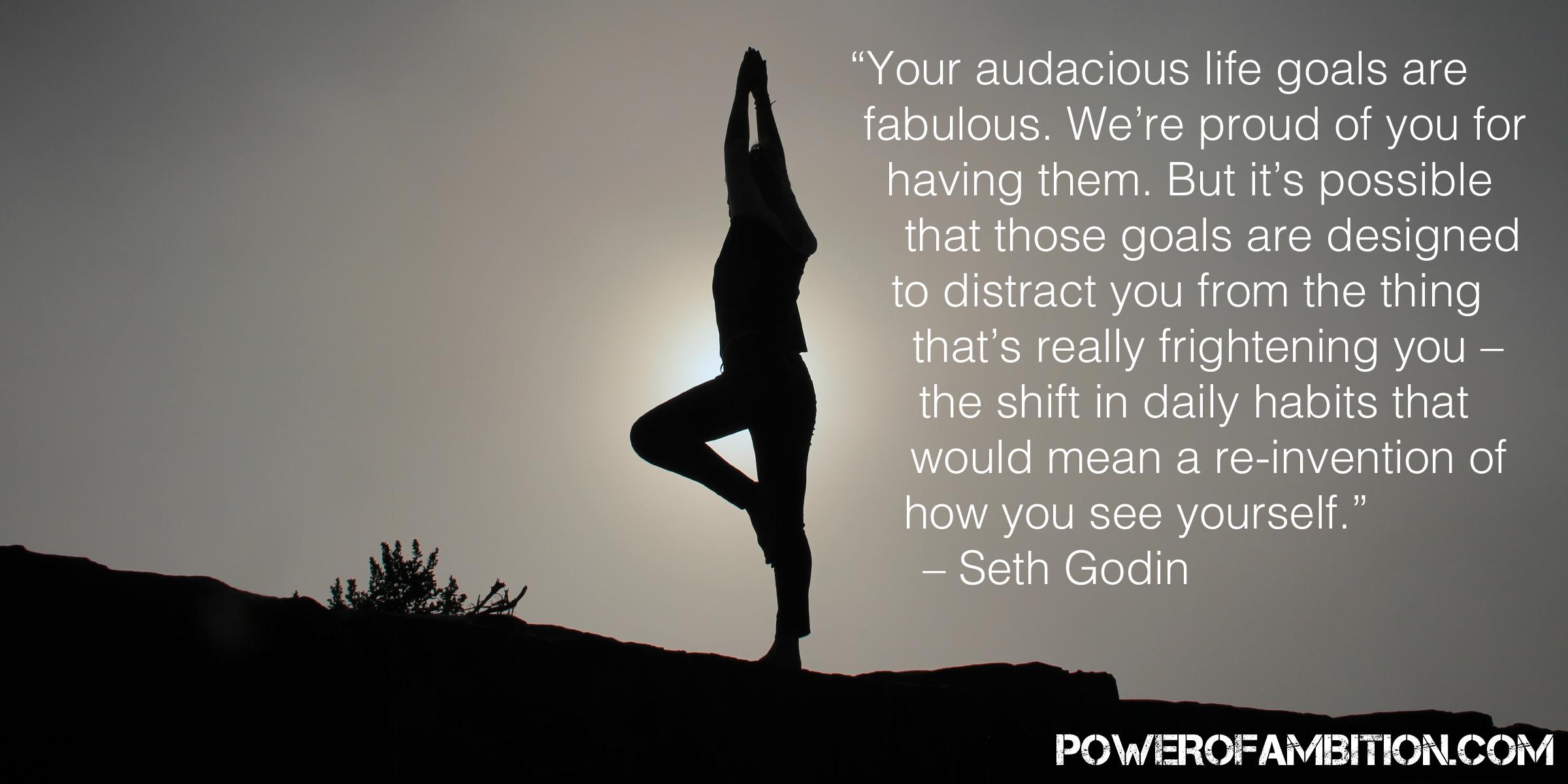 Your audacious life goals are fabulous - Seth Godin - POWEROFAMBITION.COM