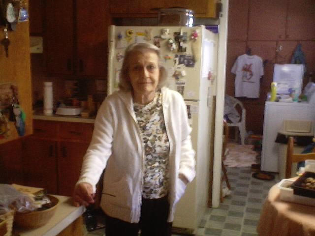 Grandma - The day of Grandpa's Funeral, February 2 ,2004.JPG