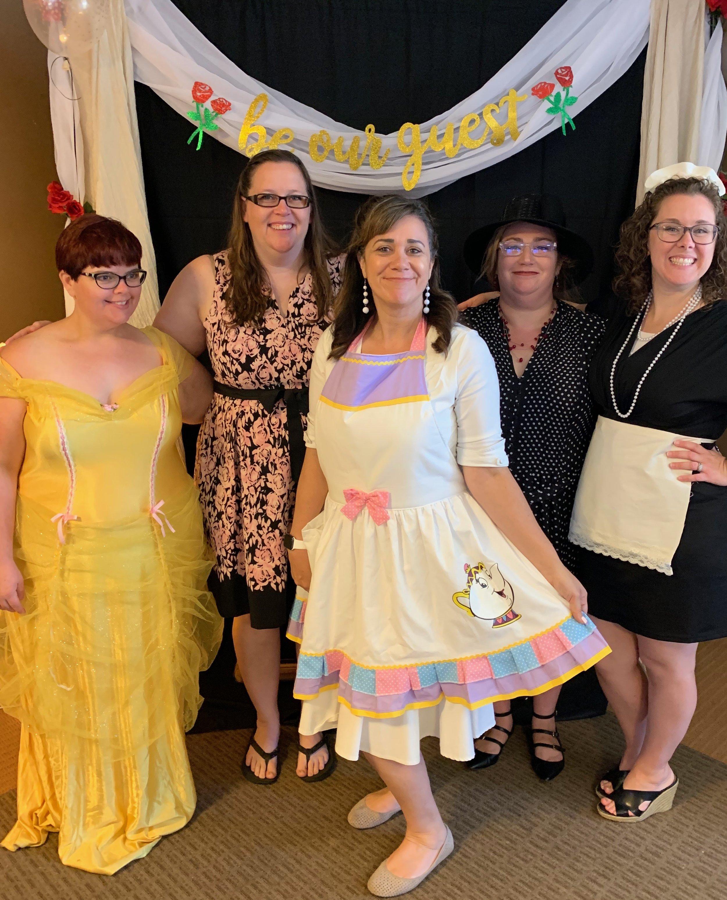 The Beauties - Tea Team (left to right) Jennifer King, Kim Merriam,Lea Aragon, Stephanie Mendoza, Shannon Lipscomb