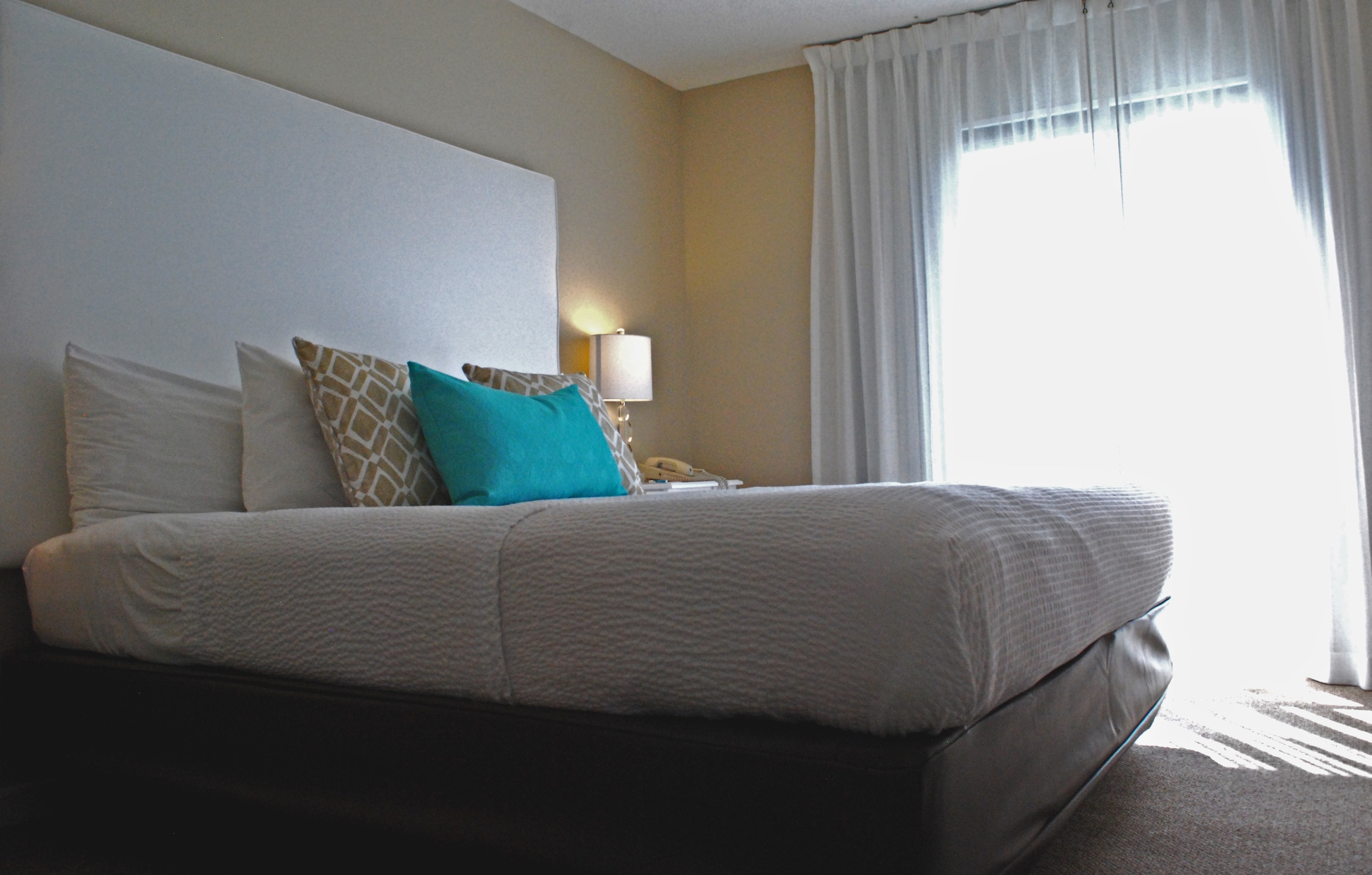 King Suite: One king bed , two televisions, DVD players. sleeper sofa & wet-bar sink area.
