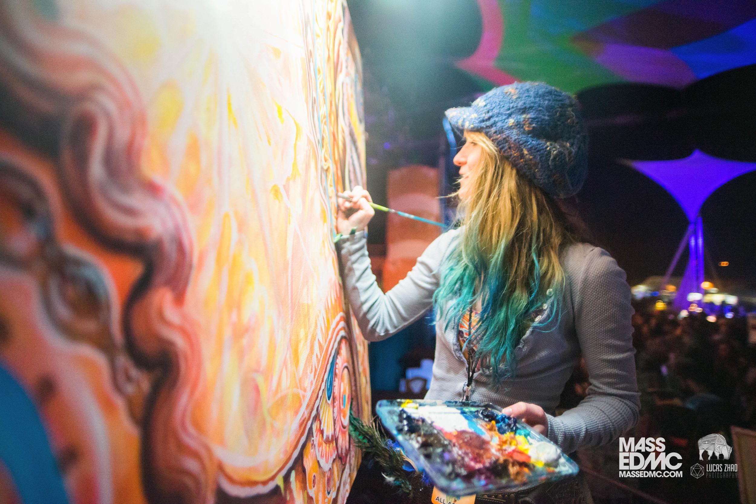 Morgan Mandala (pictured above) collaborating with Randal Roberts.
