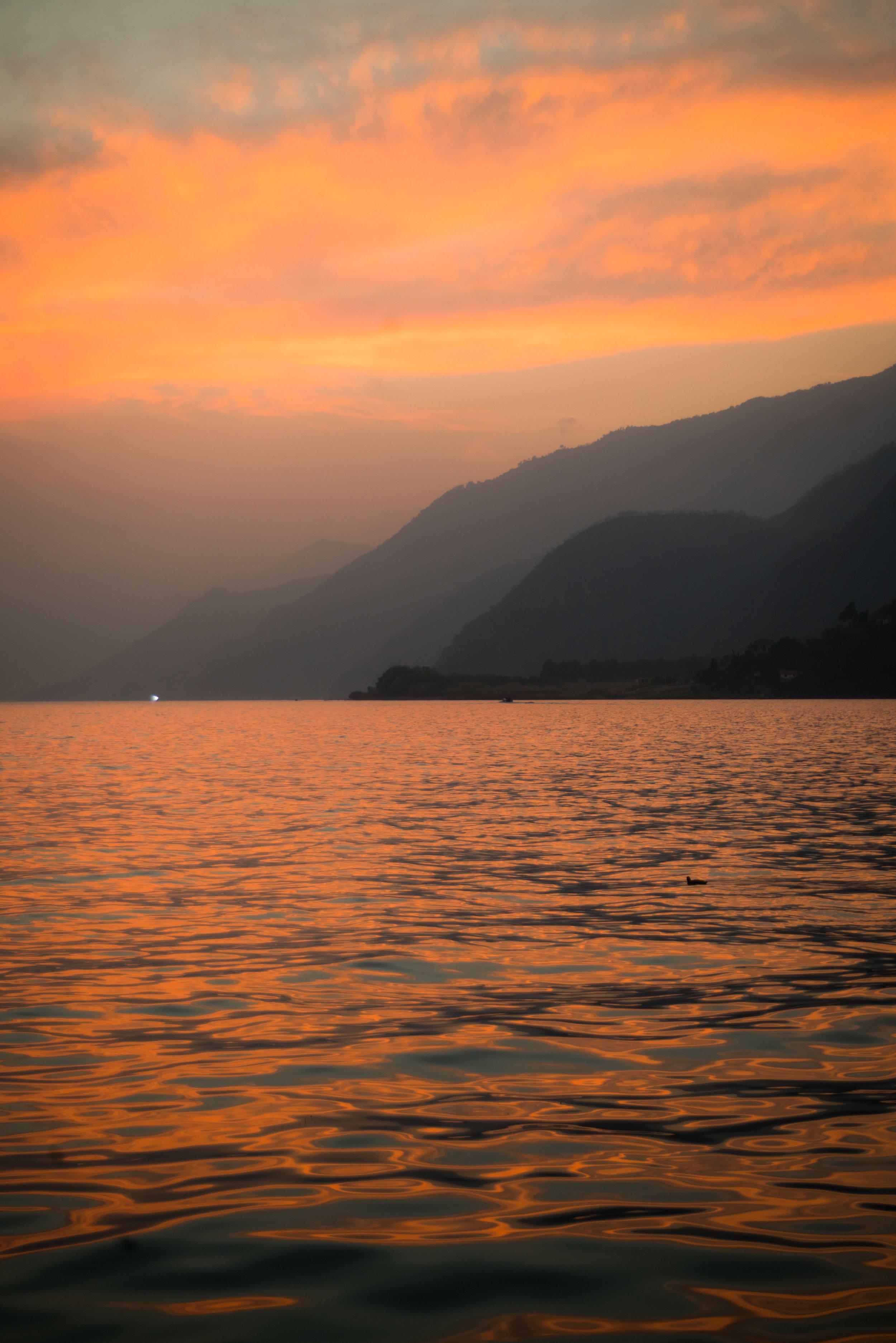 Sunset from Panajachel, Lake Atitlan