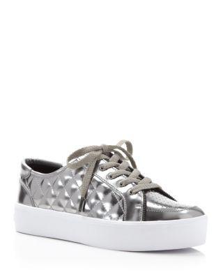 Rebecca Minkoff Metallic Quilted Platform Sneakers