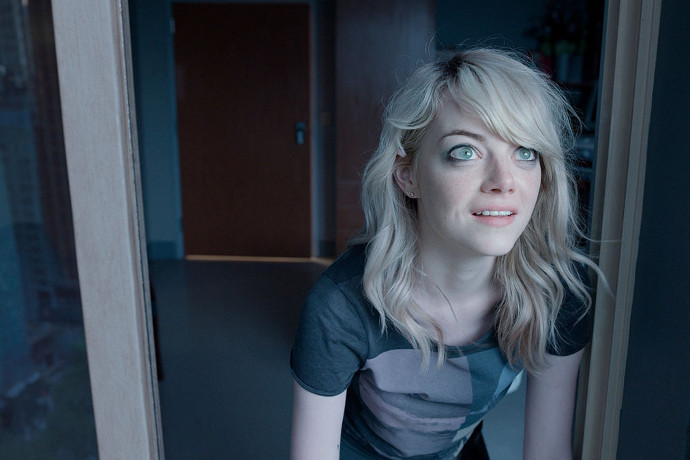 Emma Stone in the enigmatic final moments of Birdman (Image © Fox Searchlight Pictures).