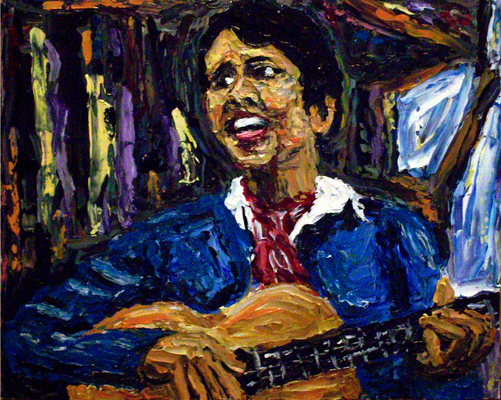 Joan Baez (Oil on Canvas Panel)